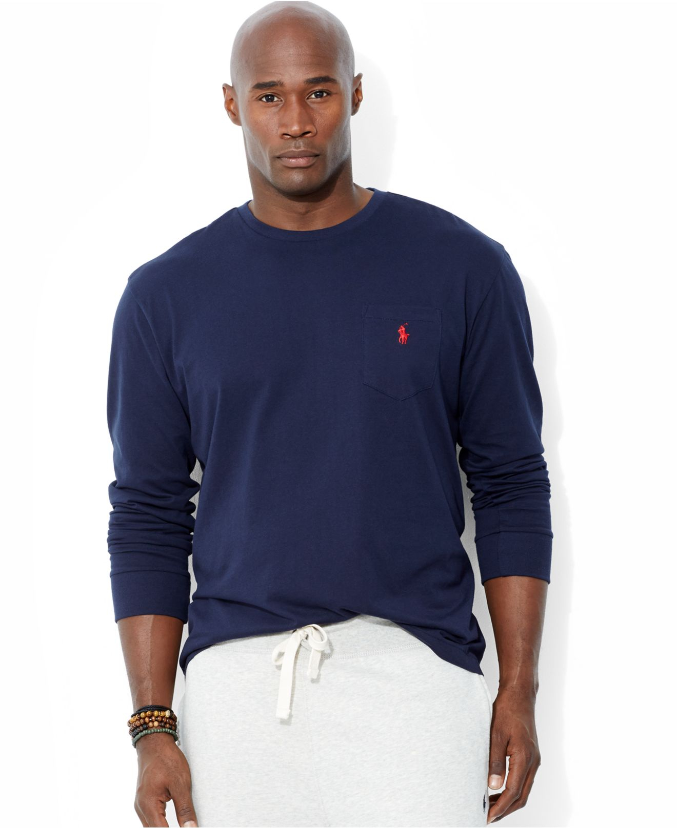 Polo ralph lauren big and tall crew neck pocket t shirt in for Big and tall quick dry shirts