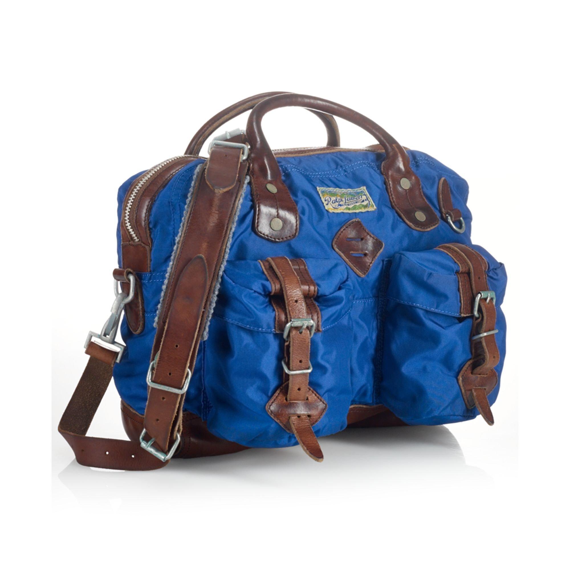 03d94eb2ee Lyst - Ralph Lauren Polo Nylon Messenger Bag in Blue for Men