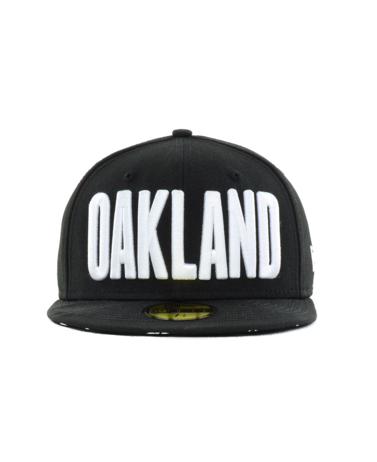 competitive price db8f0 b0efa ... new zealand lyst ktz oakland athletics big gps 59fifty cap in black for  men 802ed 069e1