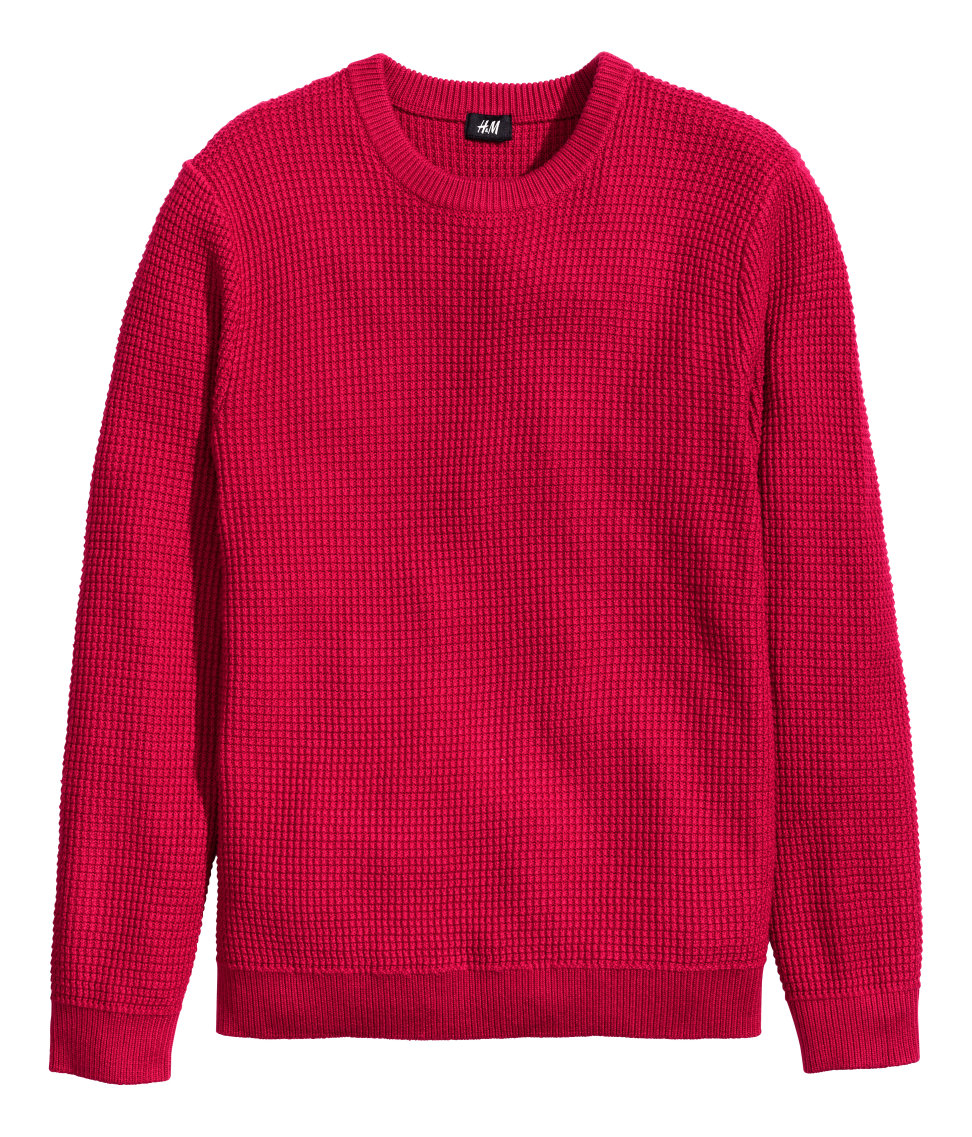 d95a91f1265 H&M Jumper In A Textured Knit for men
