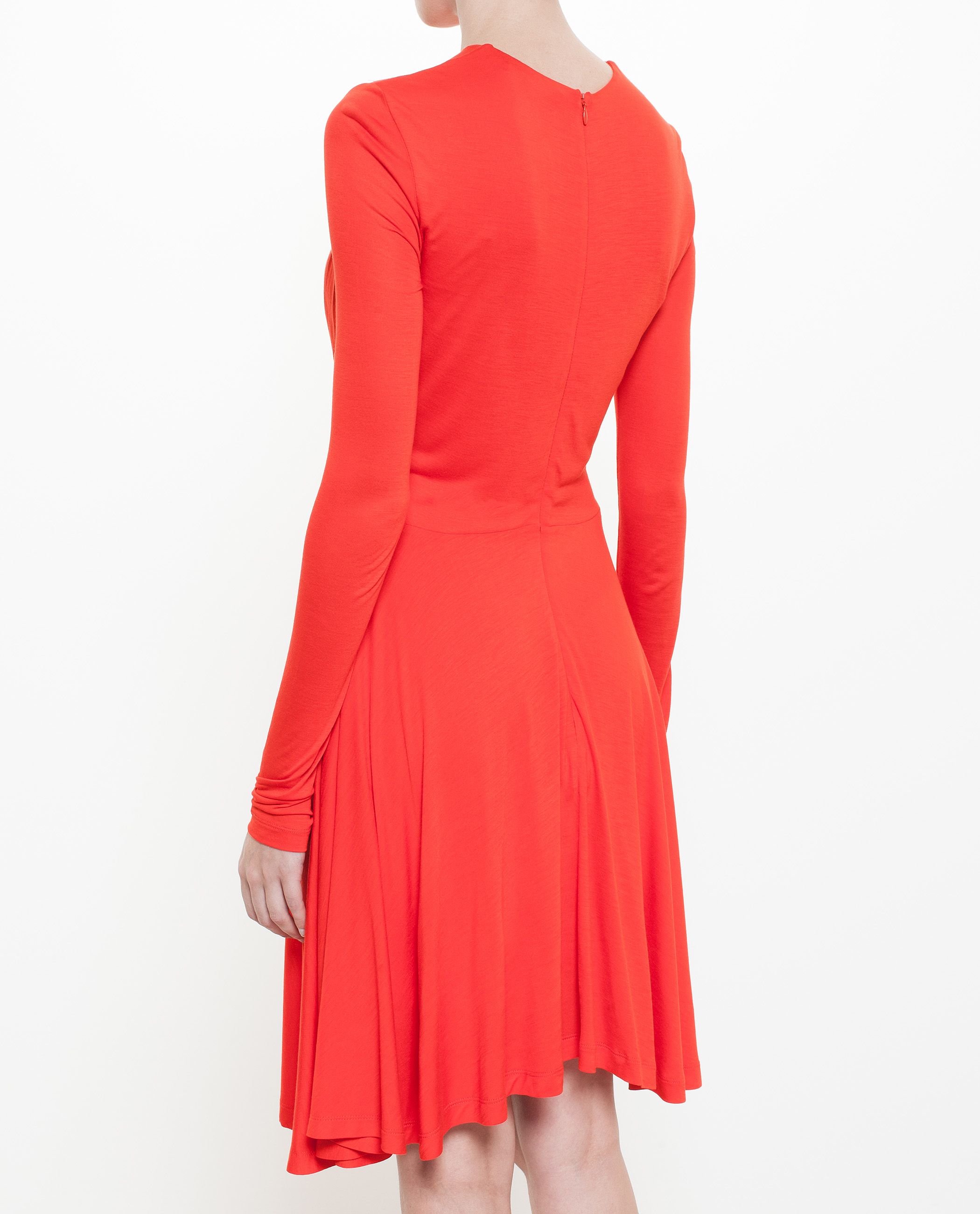 Carven Draped Front Mini Dress in Red