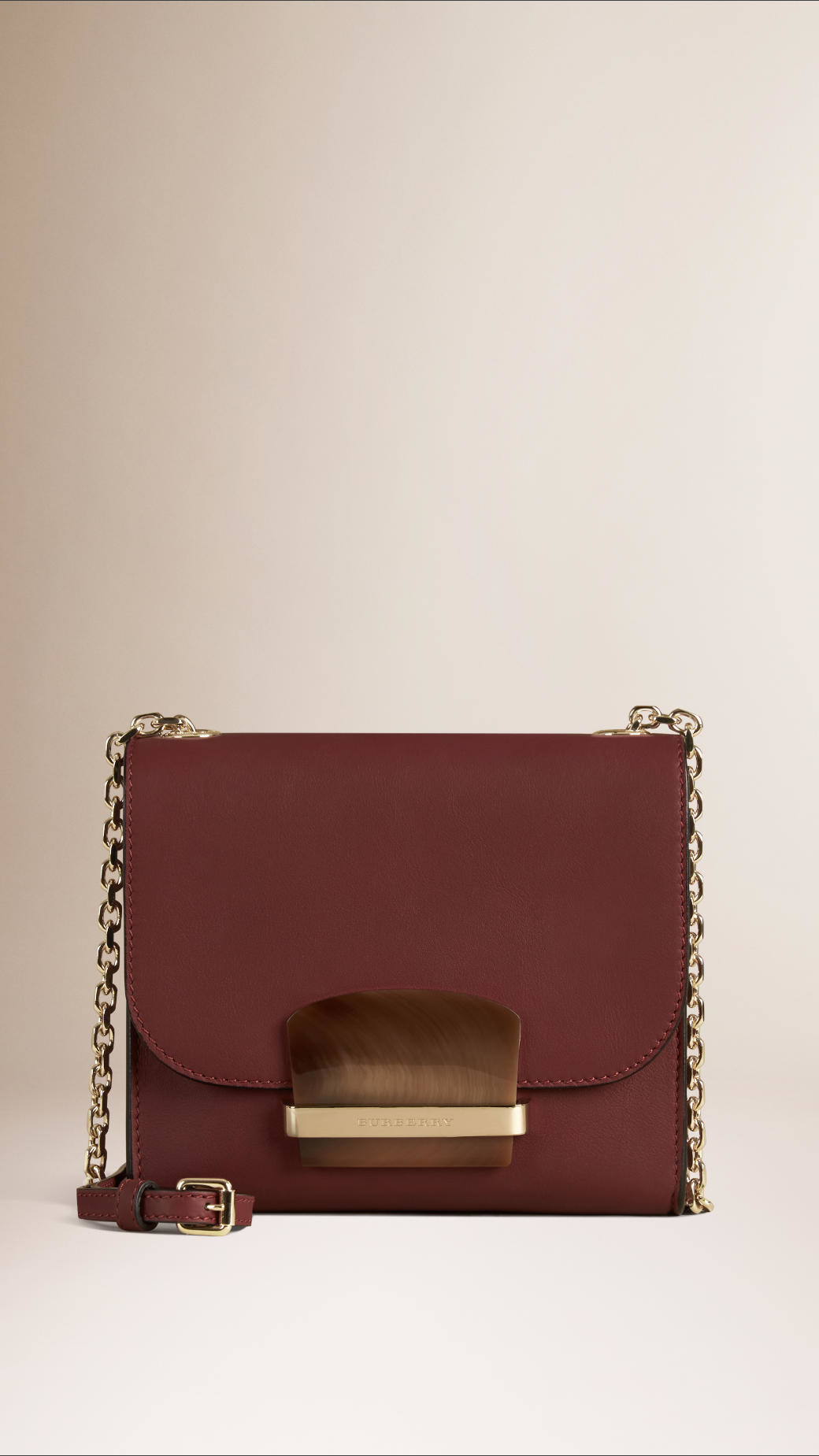 eb05b3e56216 Lyst - Burberry Small Leather Cross-Body Bag in Brown
