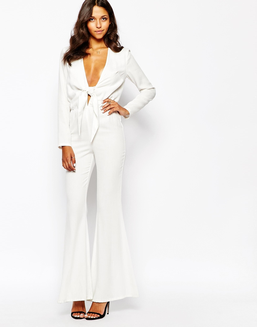 be2aeba226b5 Lyst - Stone Cold Fox Stardust Flared Jumpsuit in White