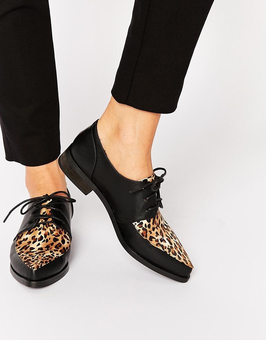 Leopard Print Flat Shoes New Look