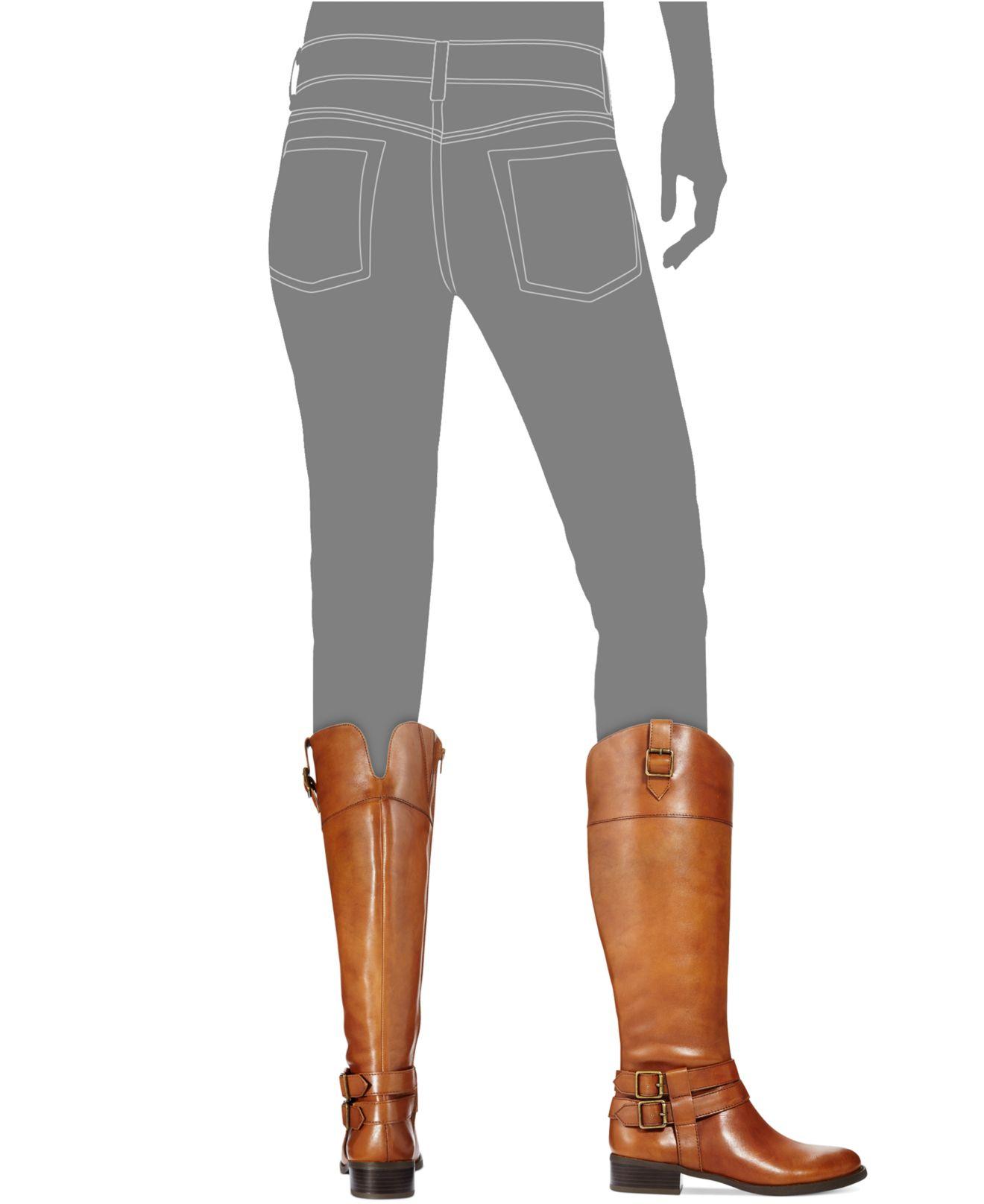 888a9e79e70 INC International Concepts Brown Fahnee Wide-Leg Leather Riding Boots