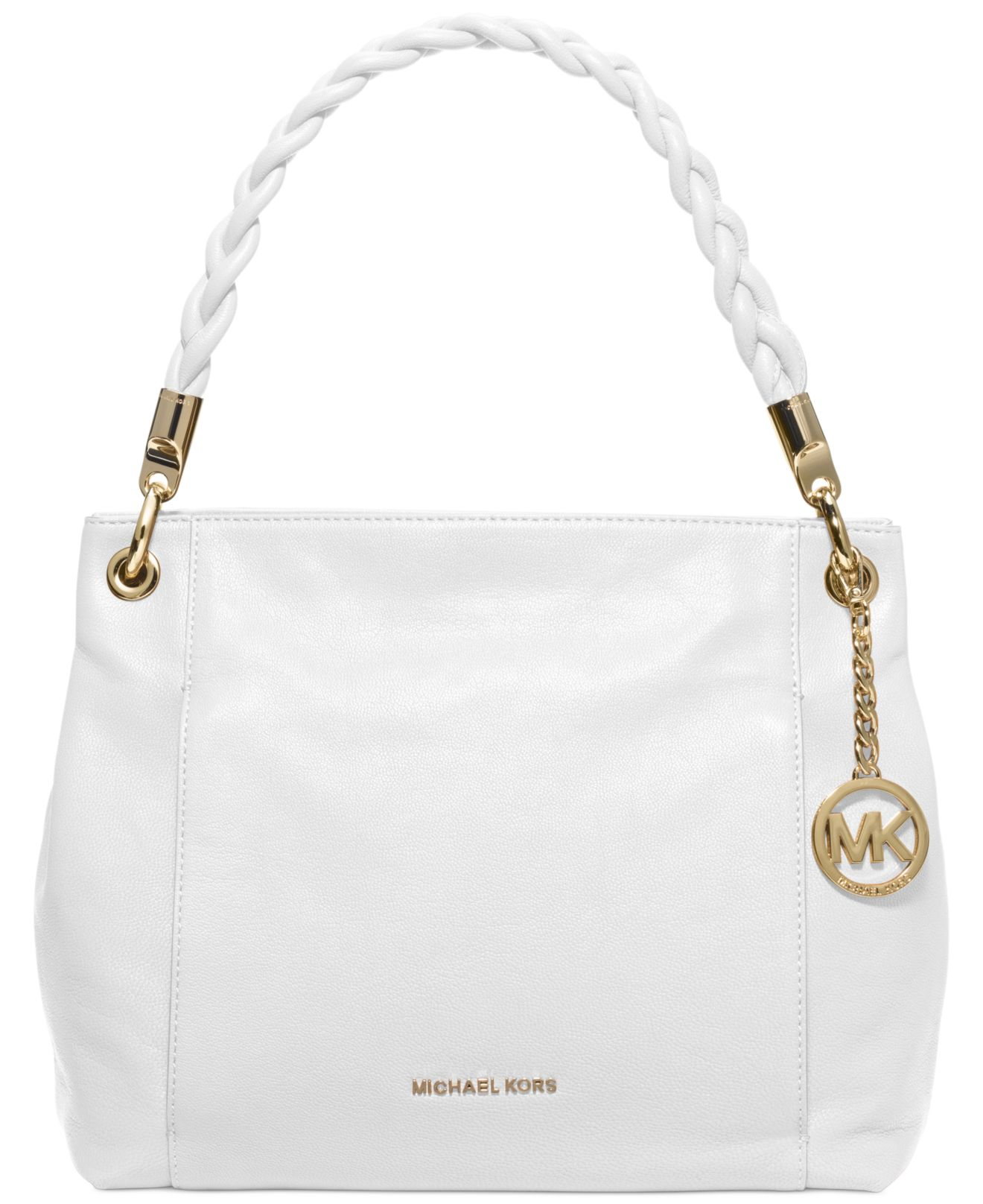 60340ed3aa5c07 ... ebay lyst michael kors michael naomi large shoulder bag in white 76b6b  daf97