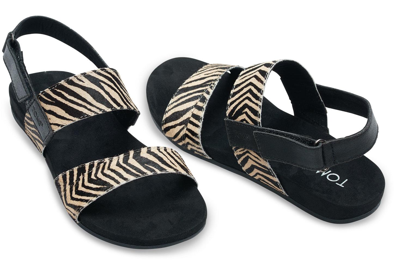 Wonderful Lyst - Toms Zebra Printed Calf Hair Women's Tierra Sandals TH02