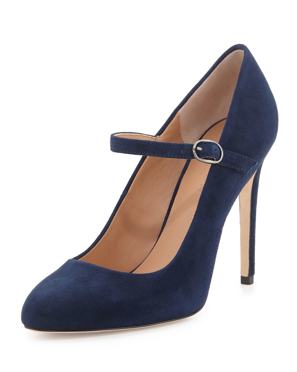 Halston Carol Suede Mary Jane Pump in Blue | Lyst