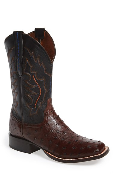 Lyst Lucchese Hogan Ostrich Leather Western Boot In