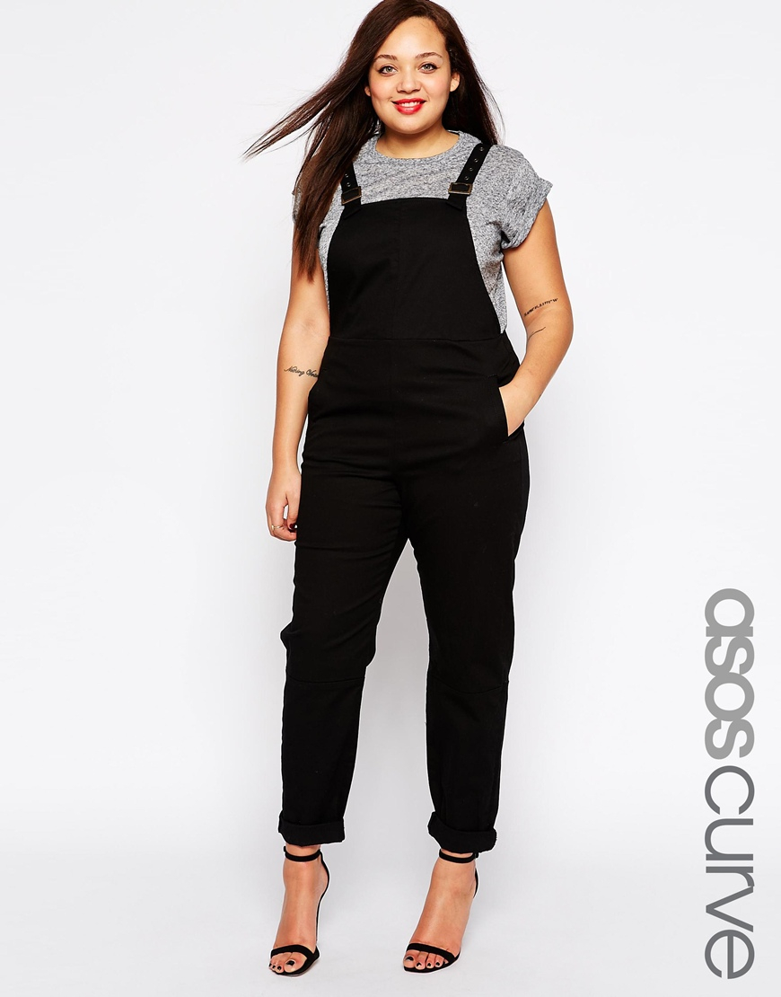Asos 90s Style Dungarees In Black
