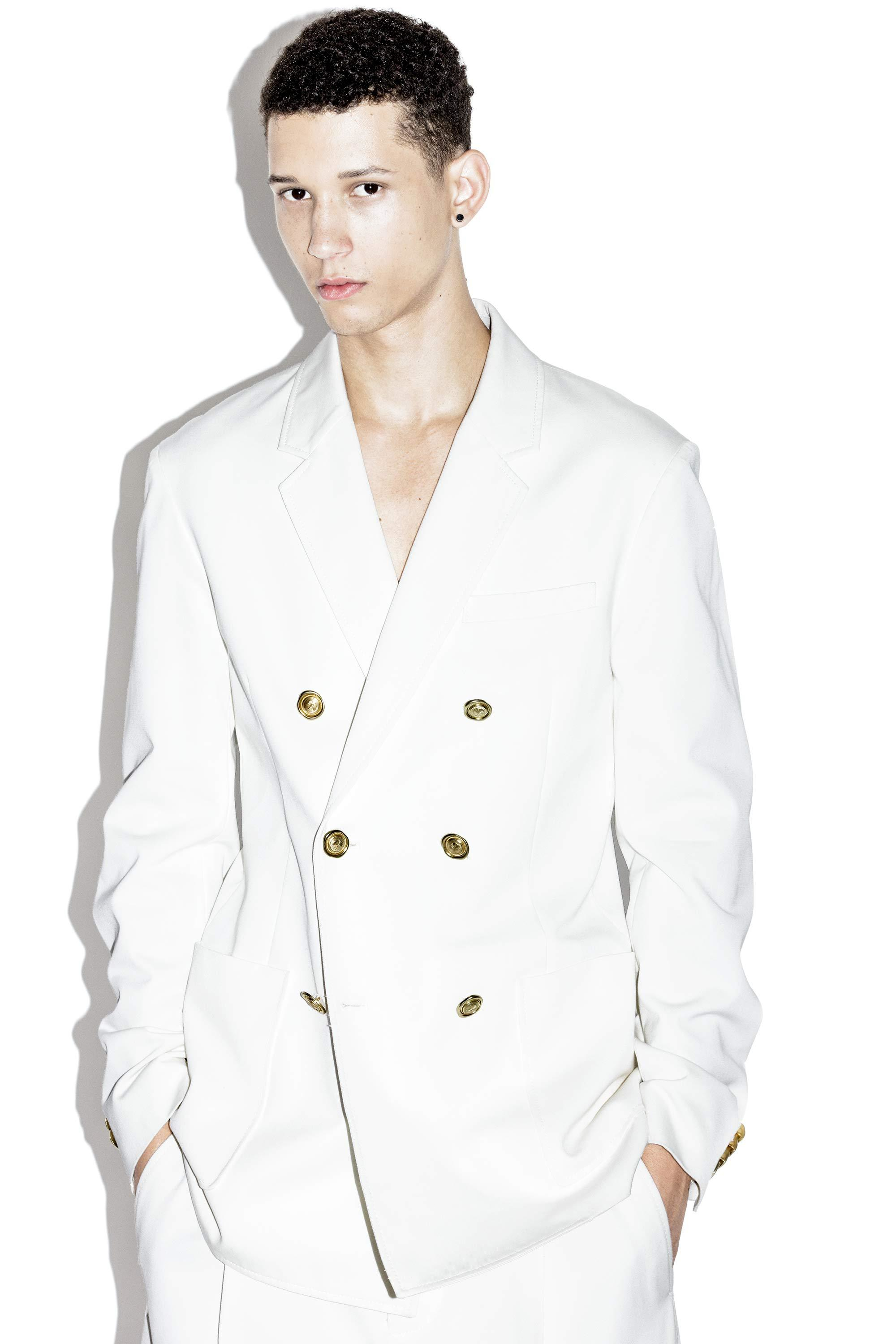 3.1 phillip lim Double-breasted Jacket in White for Men | Lyst