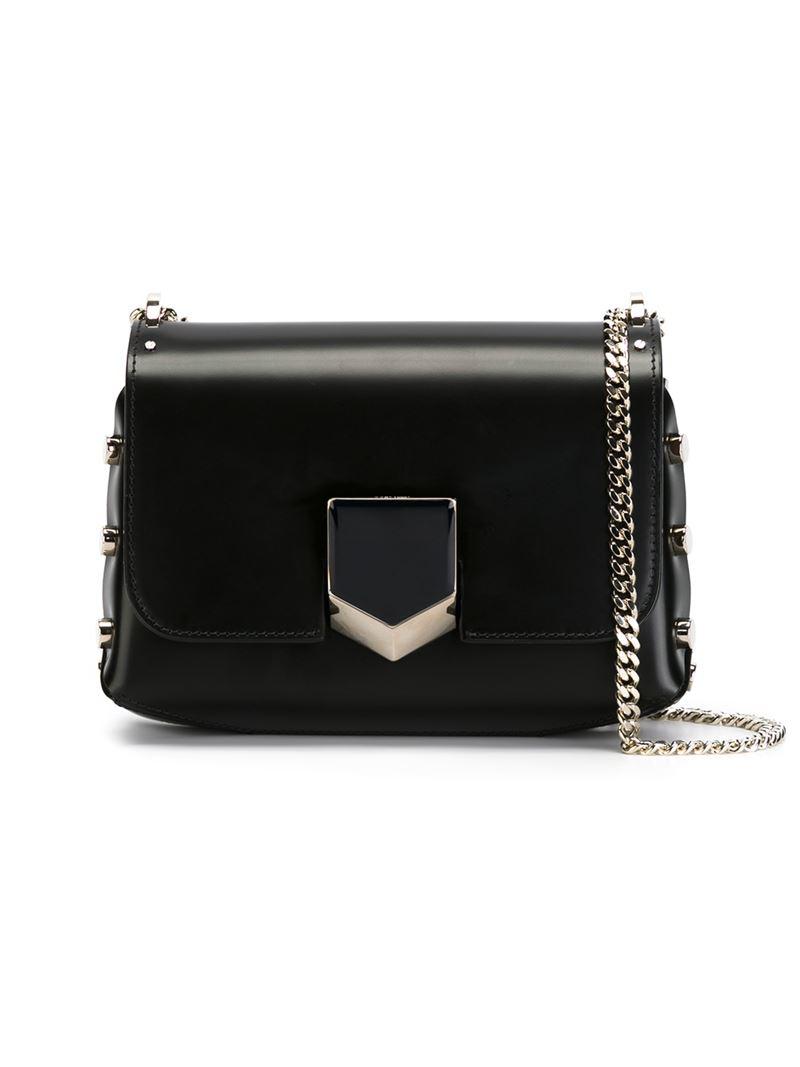 Jimmy choo Small 'lockett' Crossbody Bag in Black | Lyst