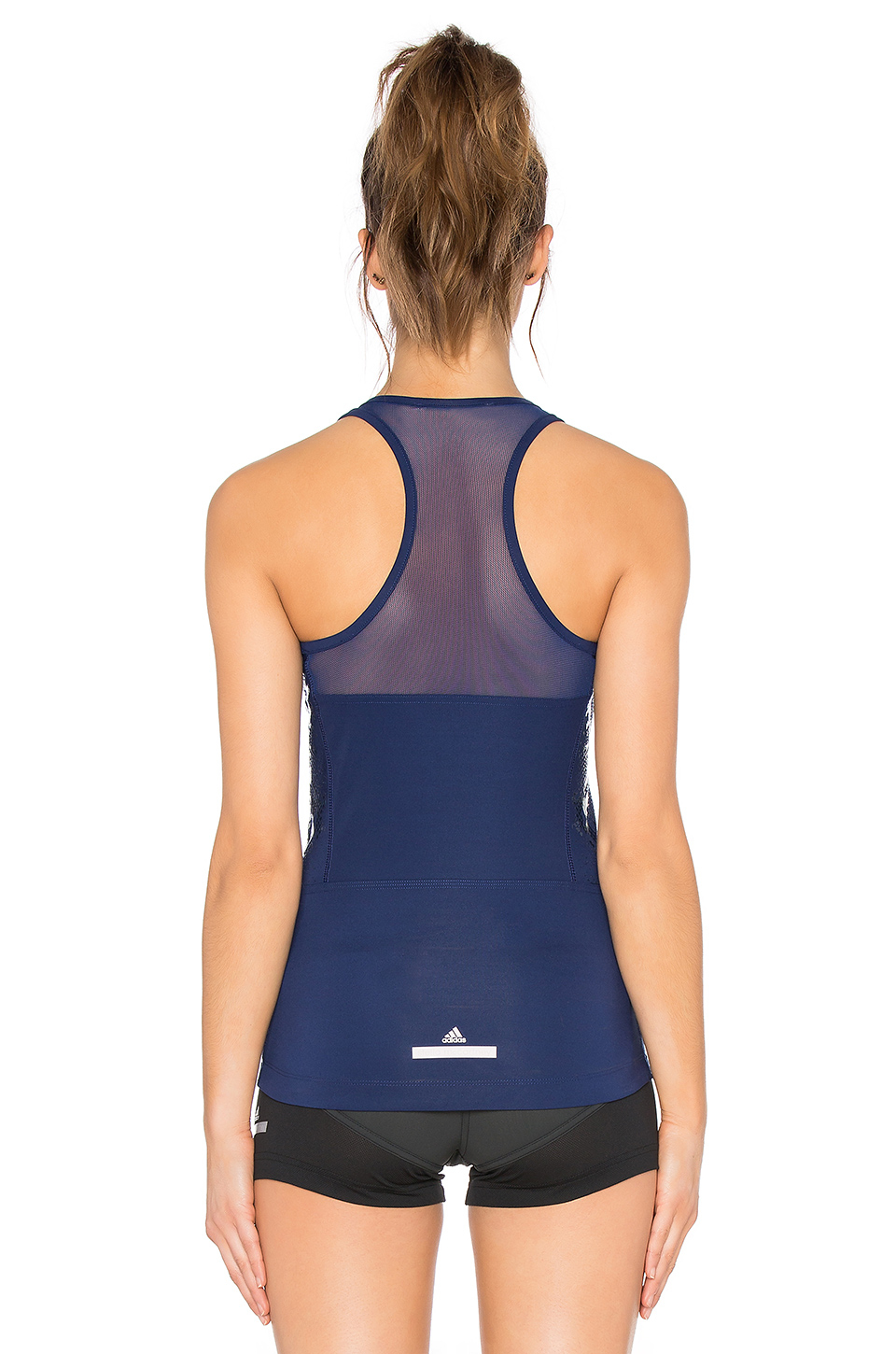 lyst adidas by stella mccartney cycling climacool tank in blue. Black Bedroom Furniture Sets. Home Design Ideas