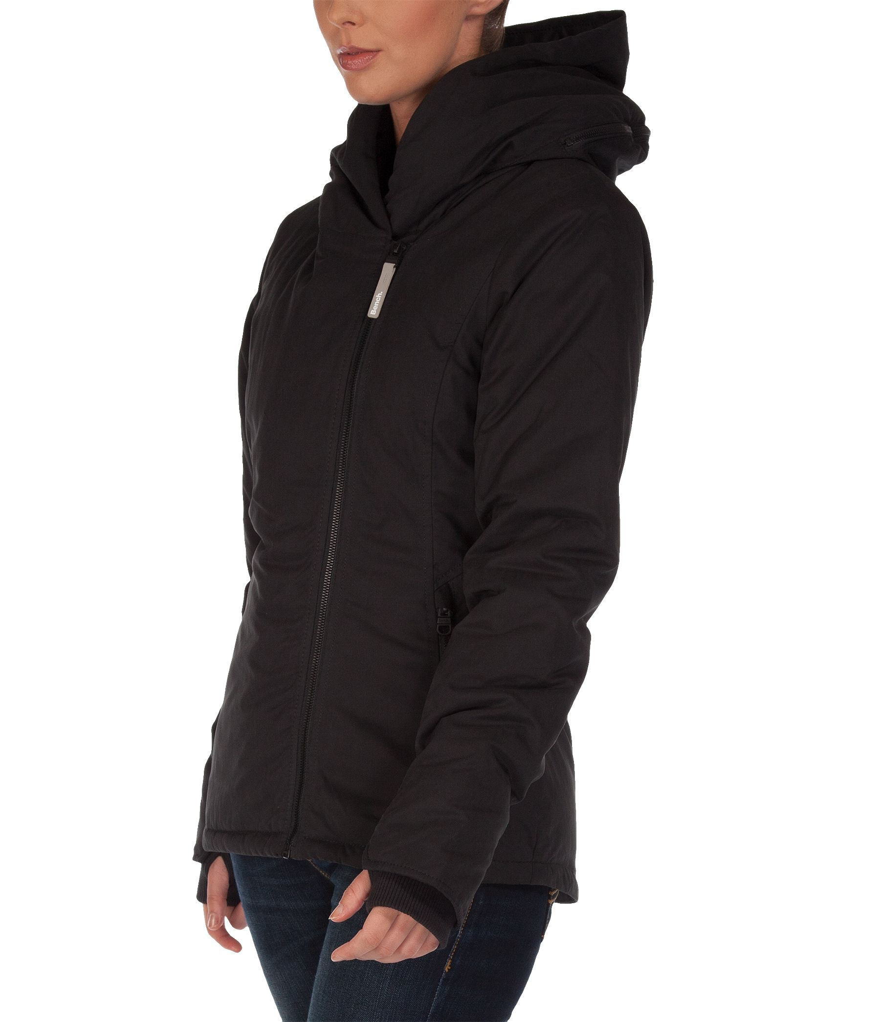 Bench bonspeil jacket in black lyst Bench jacket