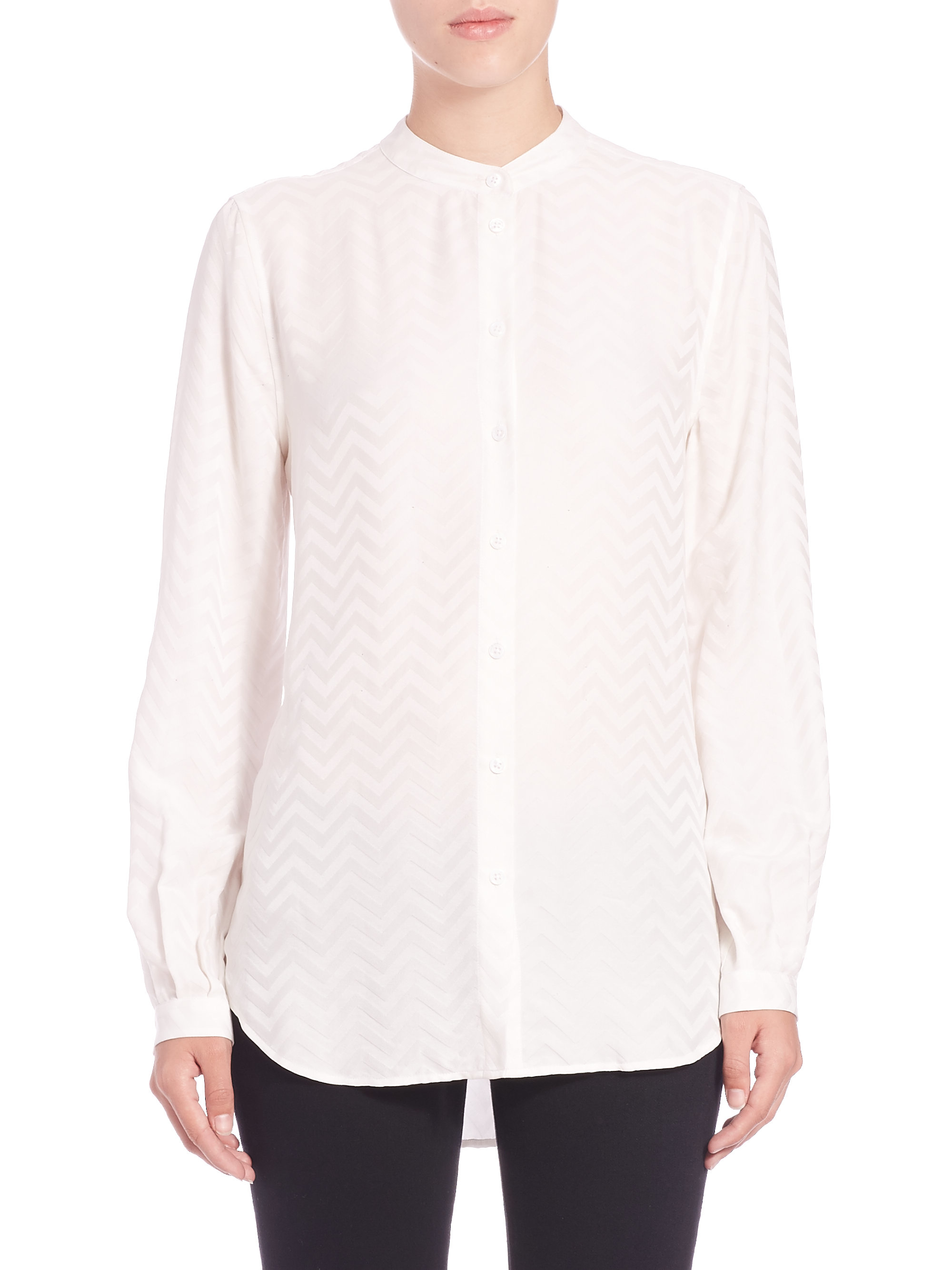c75f524a57467 Equipment Womens Silk Blouses - Image Of Blouse and Pocket