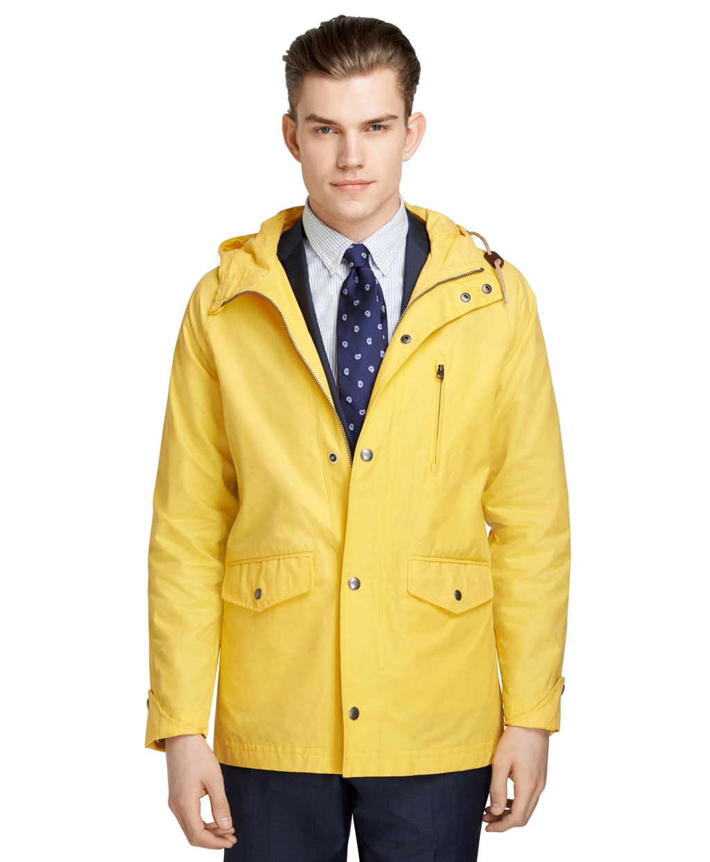Brooks brothers Rain Slicker in Yellow for Men | Lyst
