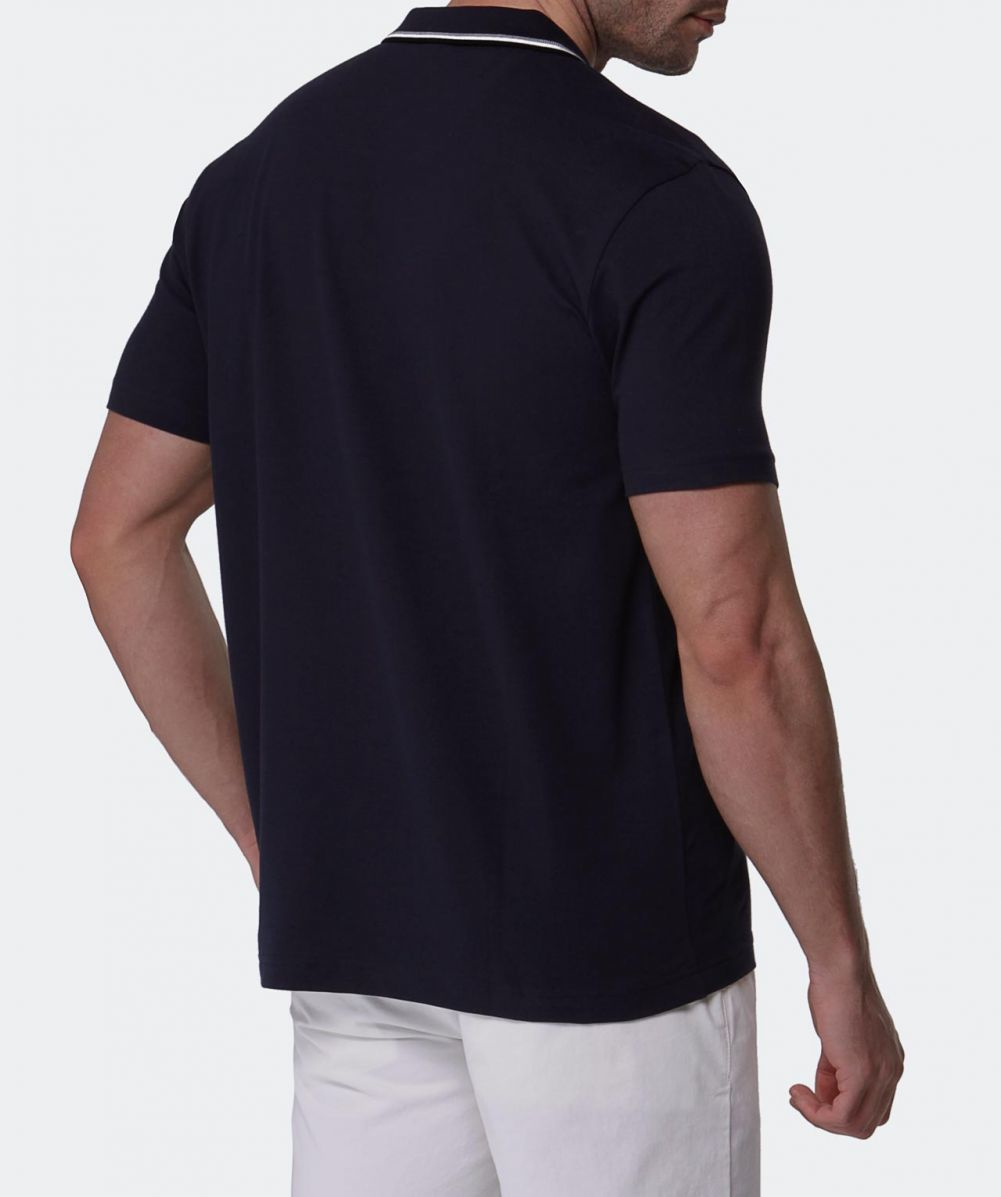 lyst boss green pasey polo shirt in blue for men. Black Bedroom Furniture Sets. Home Design Ideas