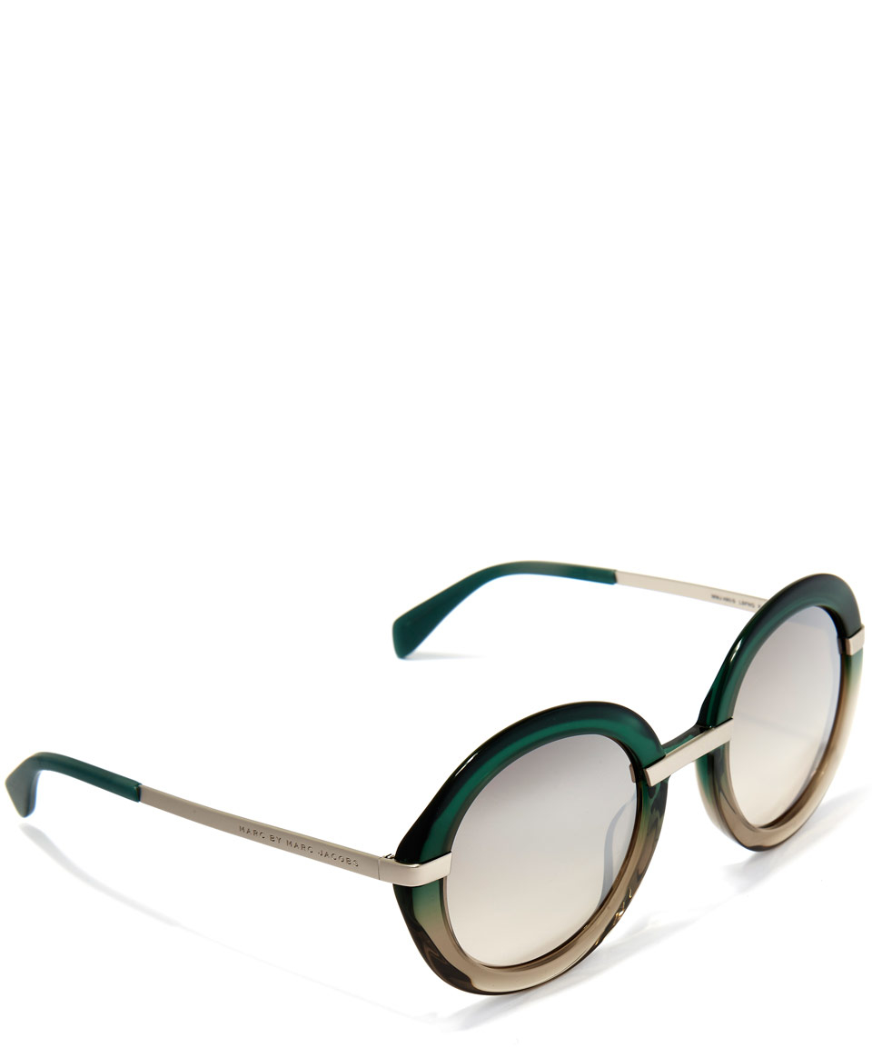 955ff7fda1 Marc Jacobs Green Round Acetate Sunglasses in Green for Men - Lyst