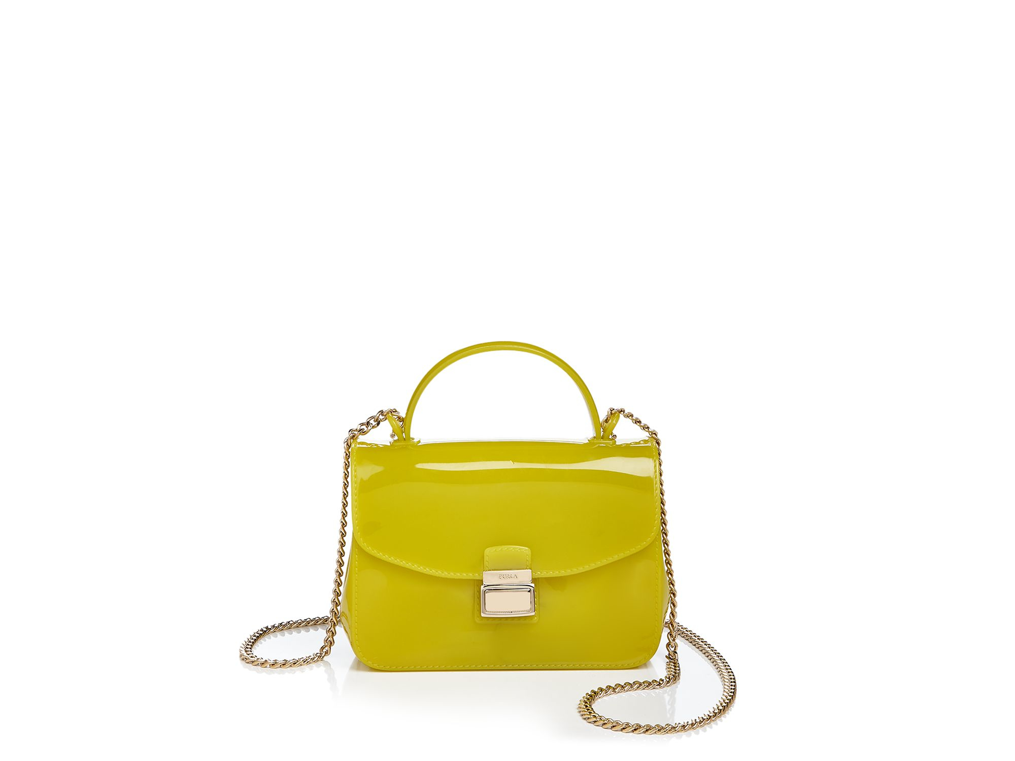 furla mini candy metropolis crossbody in yellow lyst. Black Bedroom Furniture Sets. Home Design Ideas