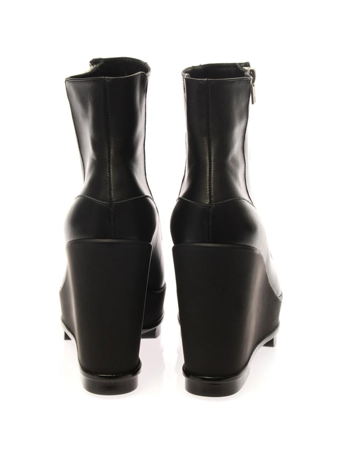 robert clergerie sencio wedge boots in black lyst