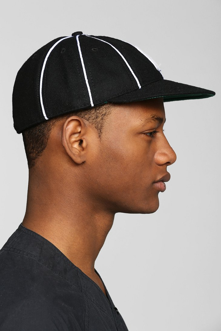 a522eb93bd740 Urban Outfitters Ebbets Field 8- Panel Baseball Hat in Black for Men - Lyst