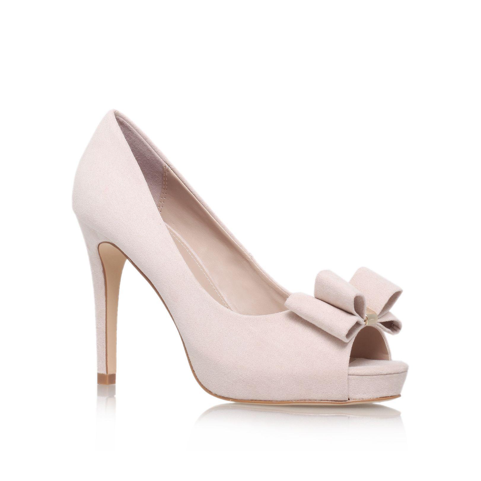 miss kg carolina high heel peep toe court shoes in