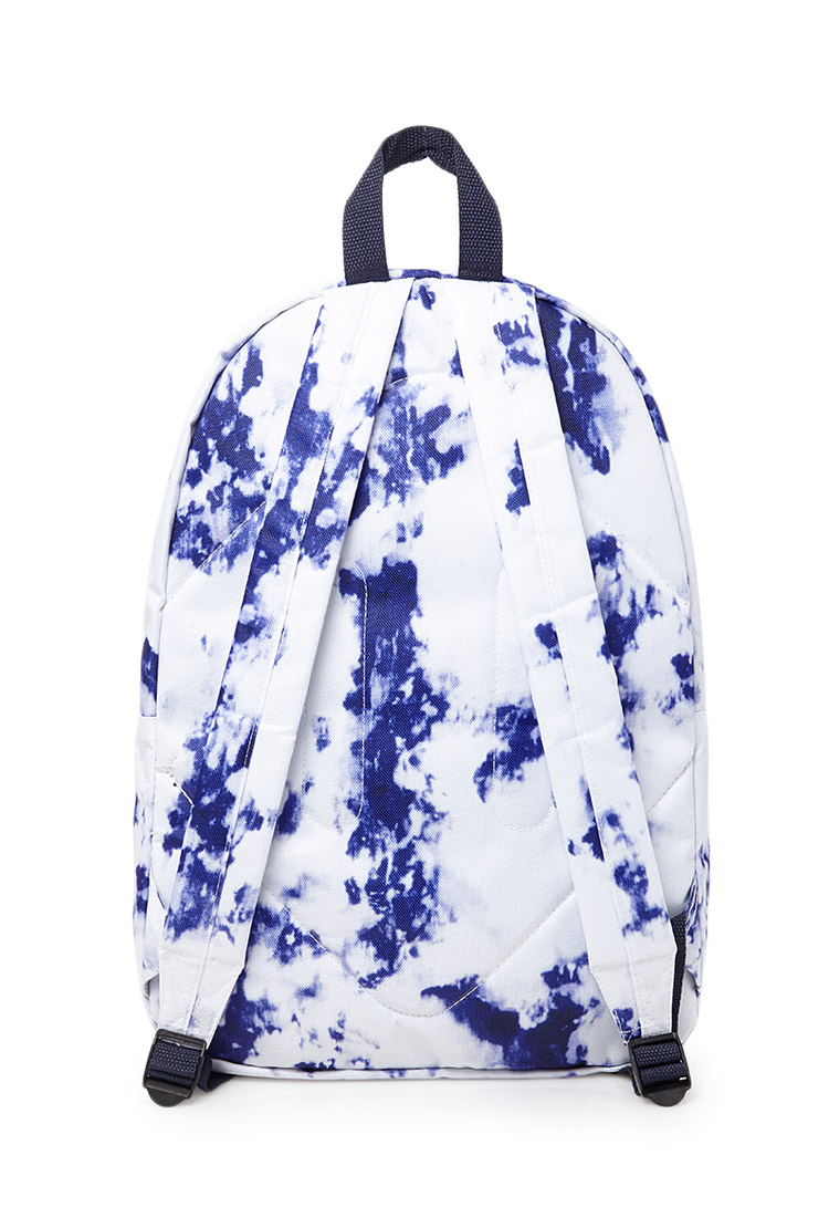 Forever 21 Marble Print Backpack In Blue For Men Lyst
