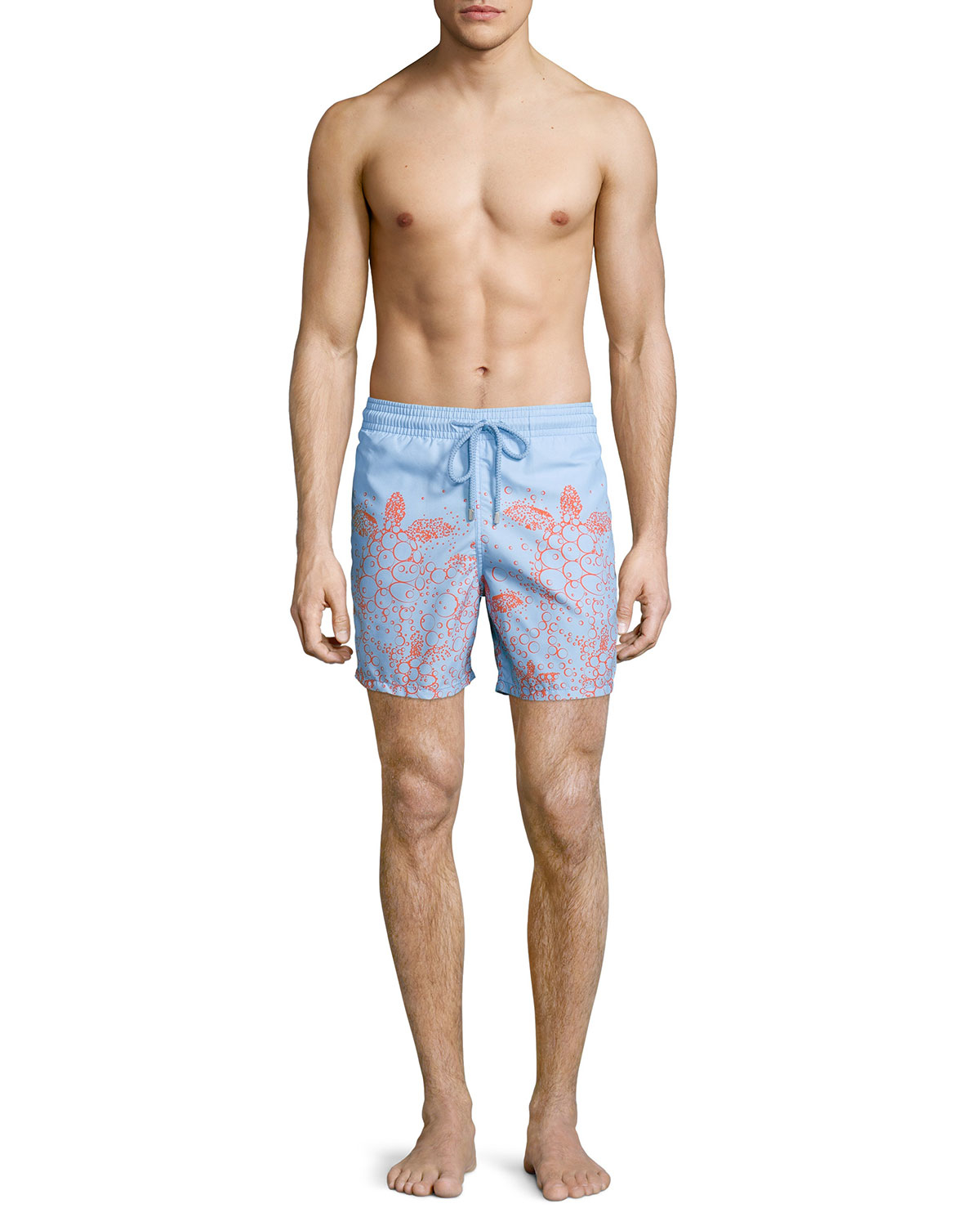 24472ecd2c Vilebrequin Moorea Bubble Turtle Print Swim Trunks in Blue for Men ...