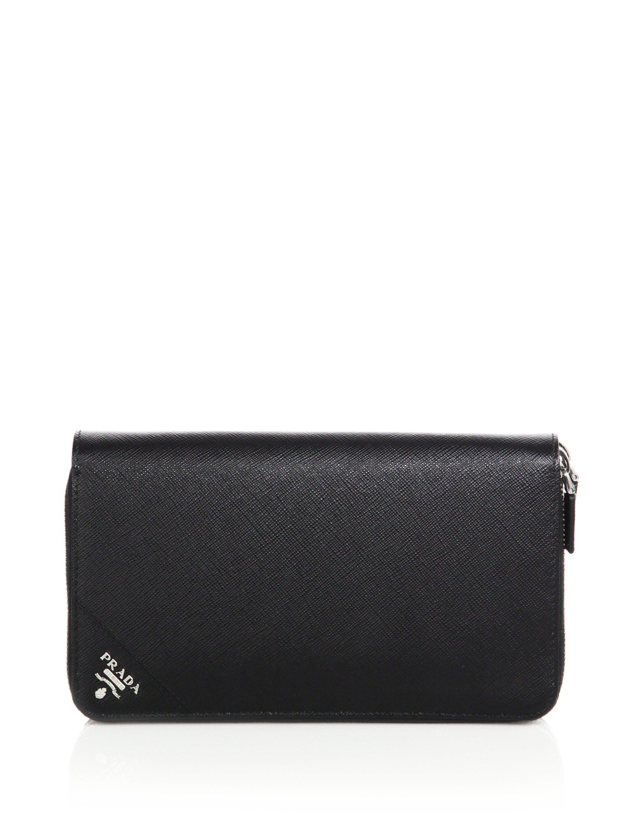 ed262c0512bc30 ... cheapest wholesale lyst prada portafoglio lampo wallet in black for men  5d9fb c7dc3 24863 661d0