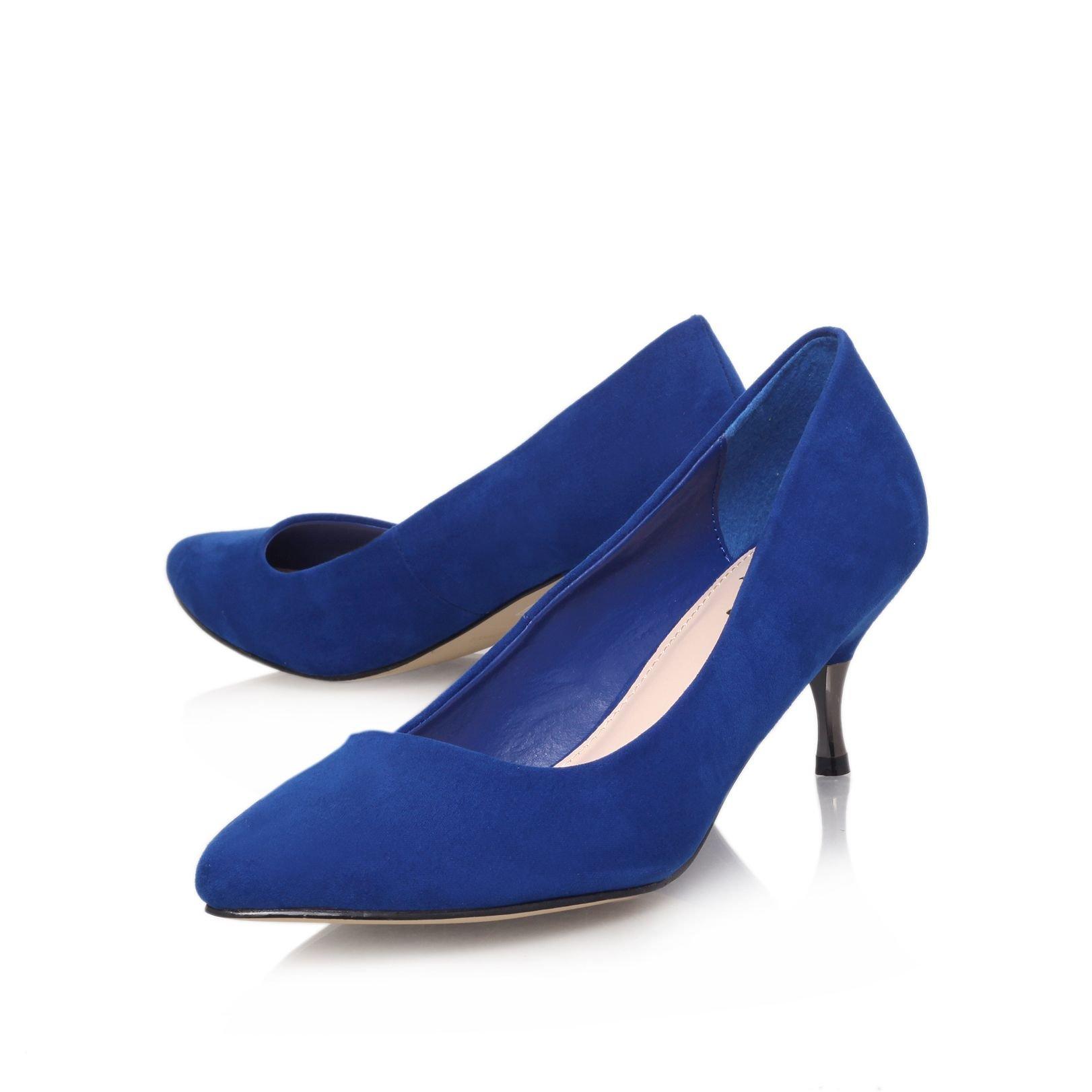 Blue Low Heels - Qu Heel