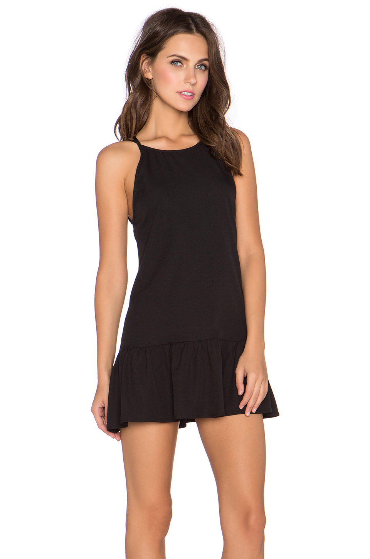 Lyst Glamorous Ruffled Hem Mini Dress In Black
