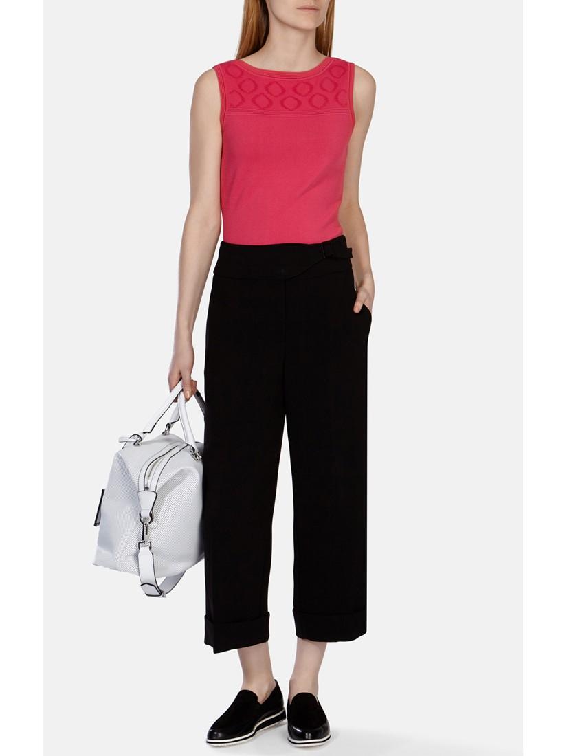 Karen Millen Aertex Knitted Top in Pink
