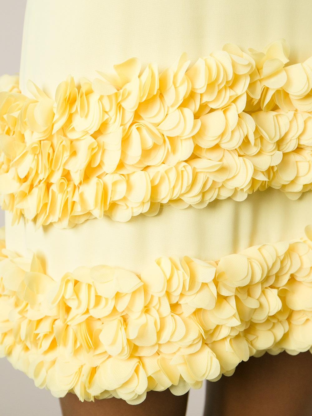 Moschino cheap and chic yellow ruffle dress.