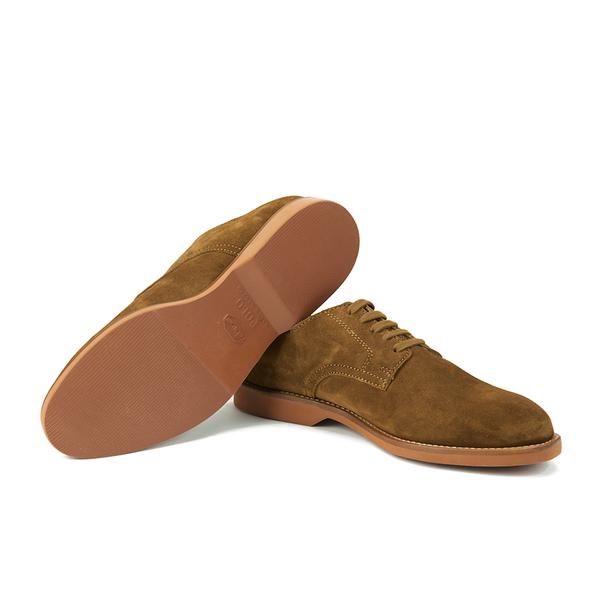Ralph Men Men's Shoes Suede Derby Polo Brown Cartland Lauren For 80PkwONnX