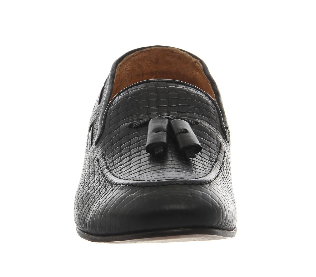 h by hudson piere loafers in black for men lyst. Black Bedroom Furniture Sets. Home Design Ideas