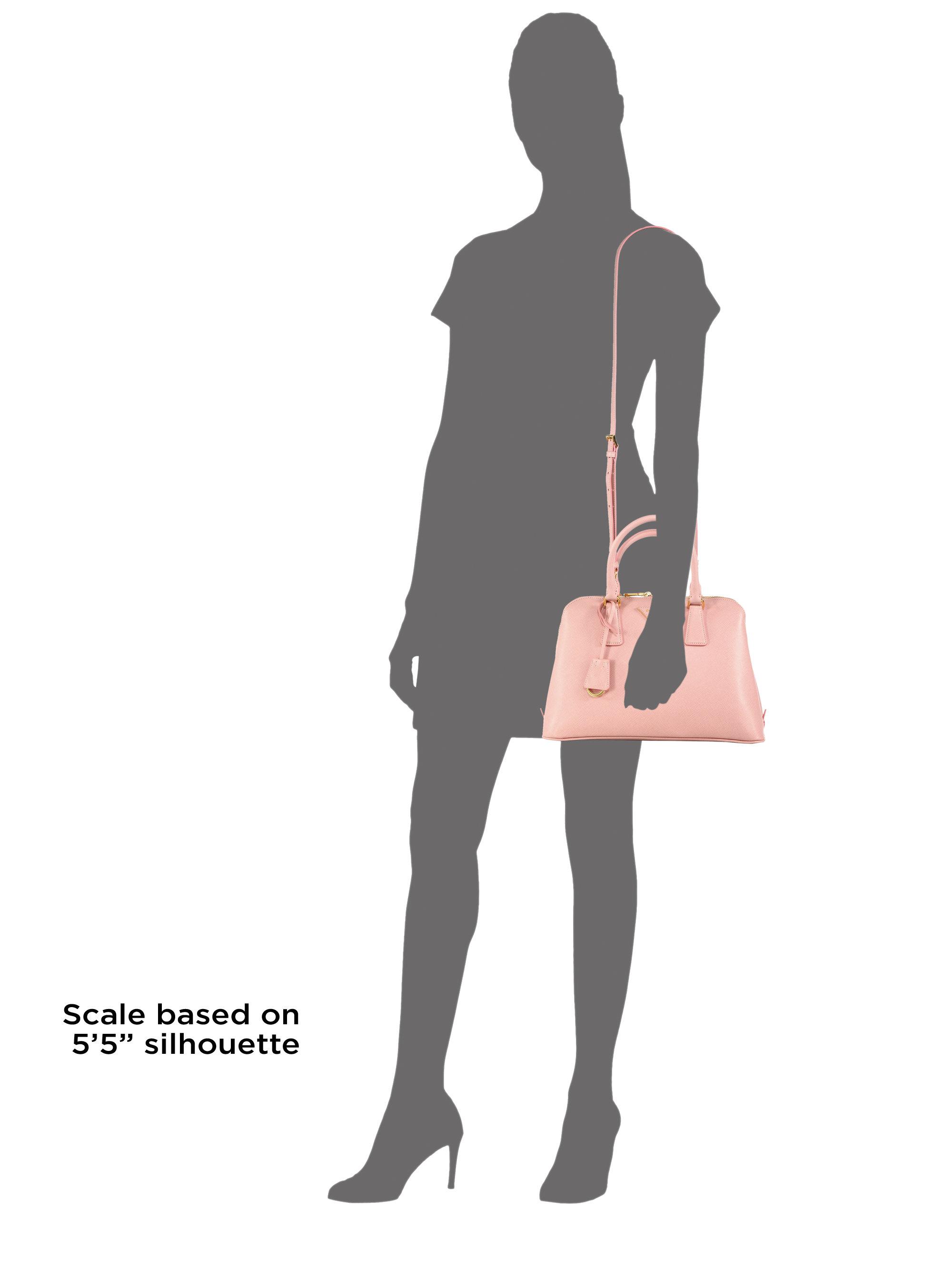 Prada Saffiano Lux Small Promenade in Pink (ORCHID) | Lyst
