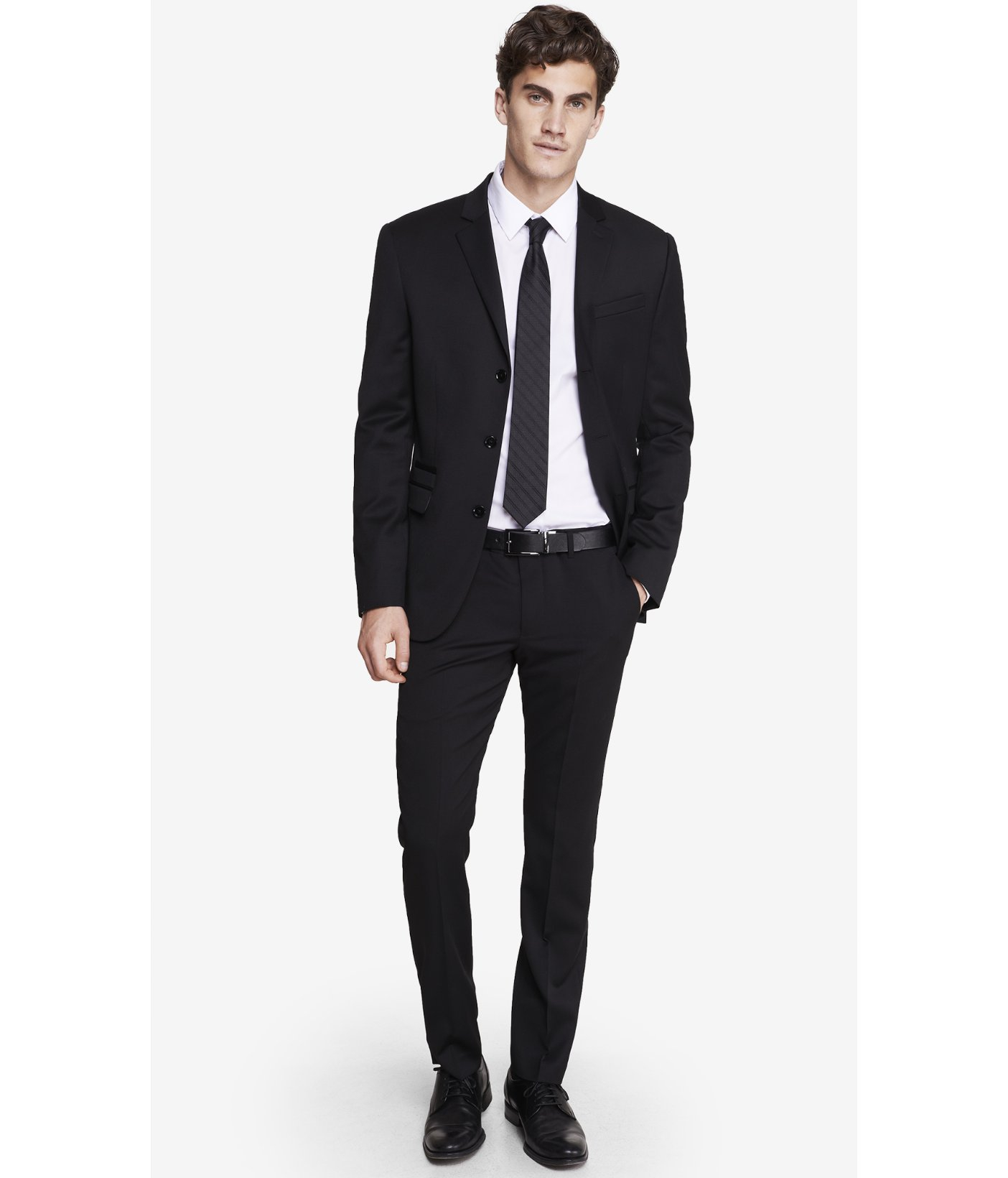 Express Extra Slim Innovator Black Suit Pant in Black for Men | Lyst