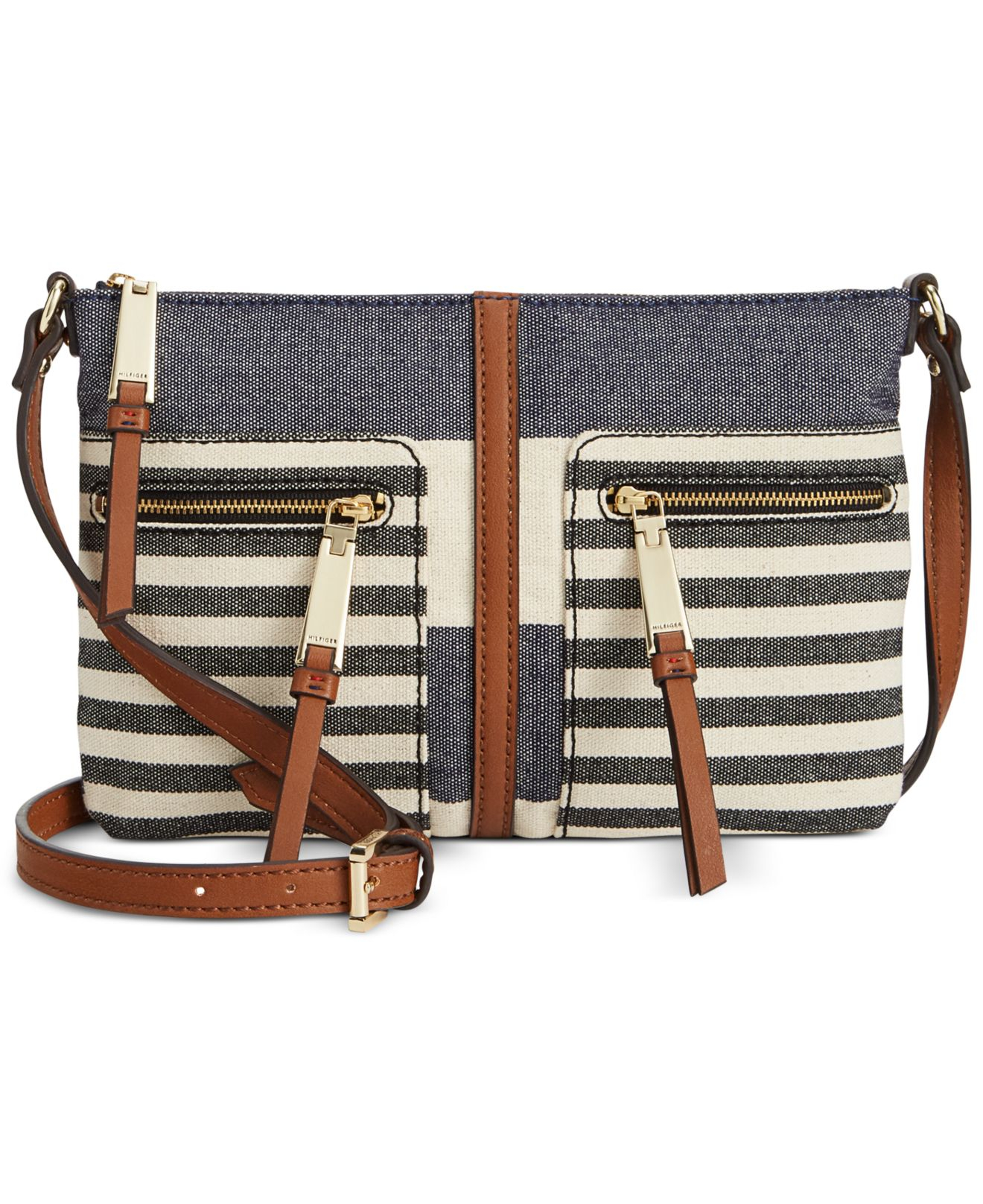 tommy hilfiger woven rugby east west crossbody in blue lyst. Black Bedroom Furniture Sets. Home Design Ideas