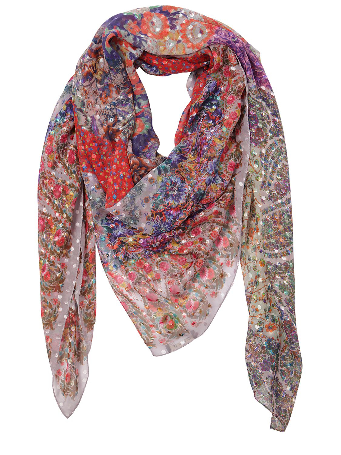 paisley print scarf - Red Etro