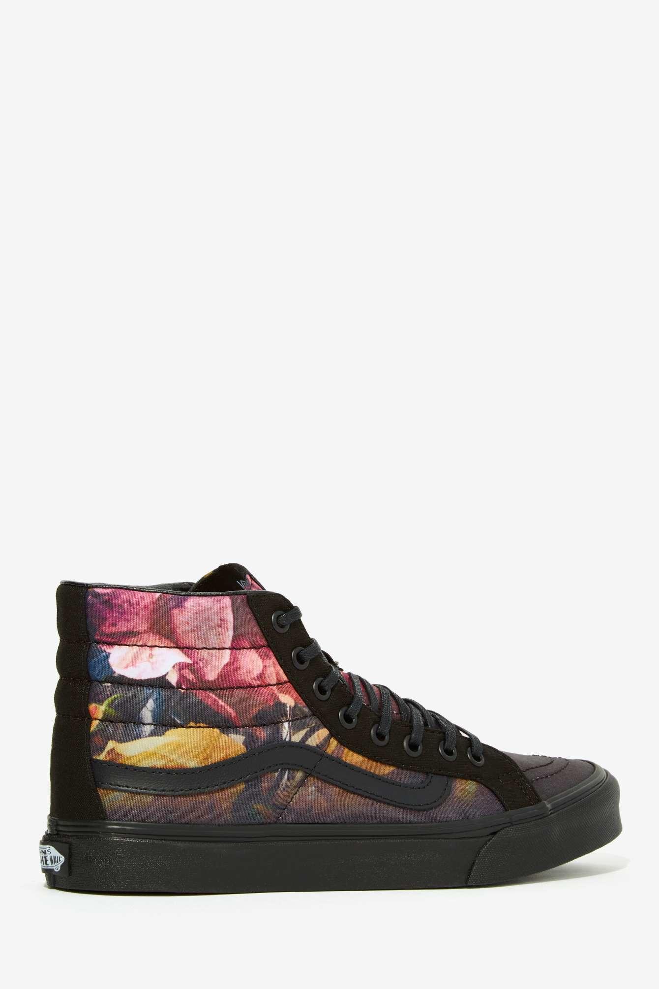 vans sk8 hi slim sneaker ombre floral lyst. Black Bedroom Furniture Sets. Home Design Ideas