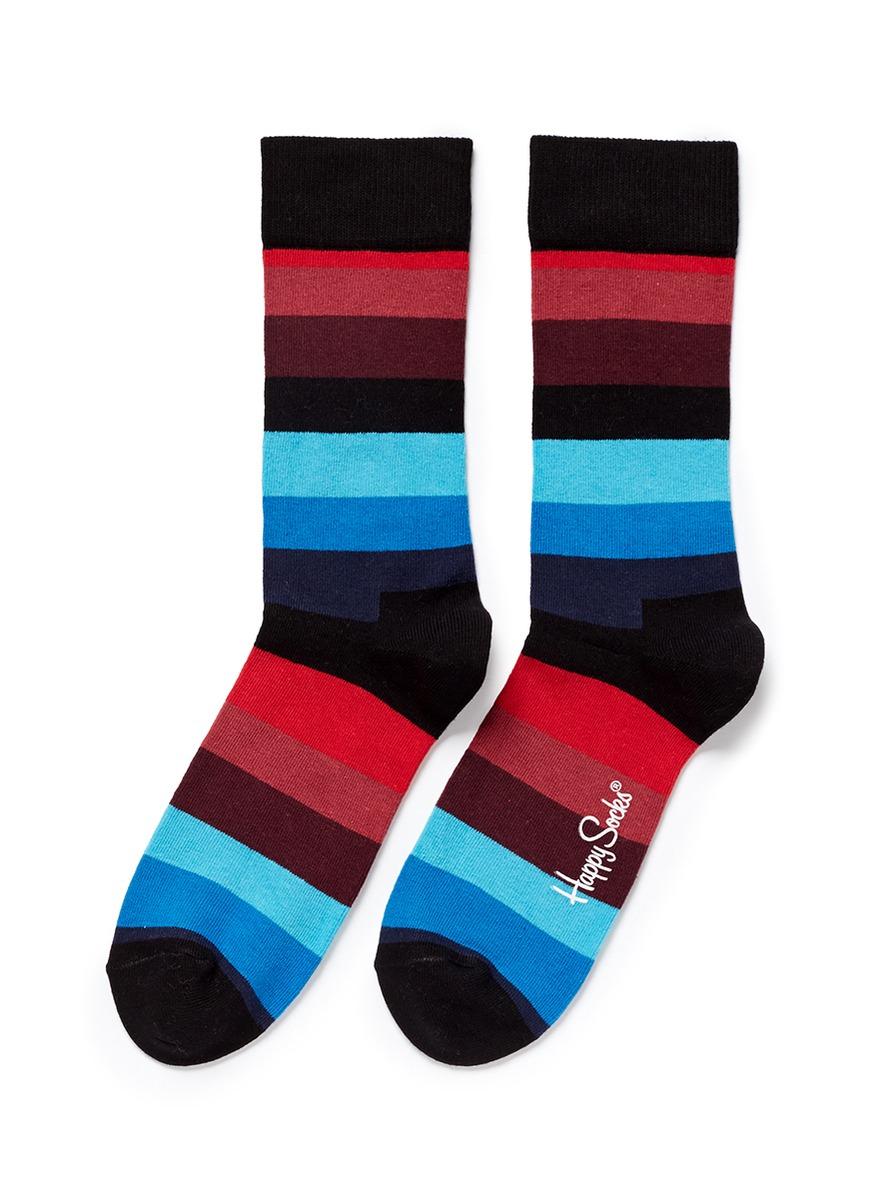 Happy socks Stripe Socks in Multicolor (Multi-colour) | Lyst