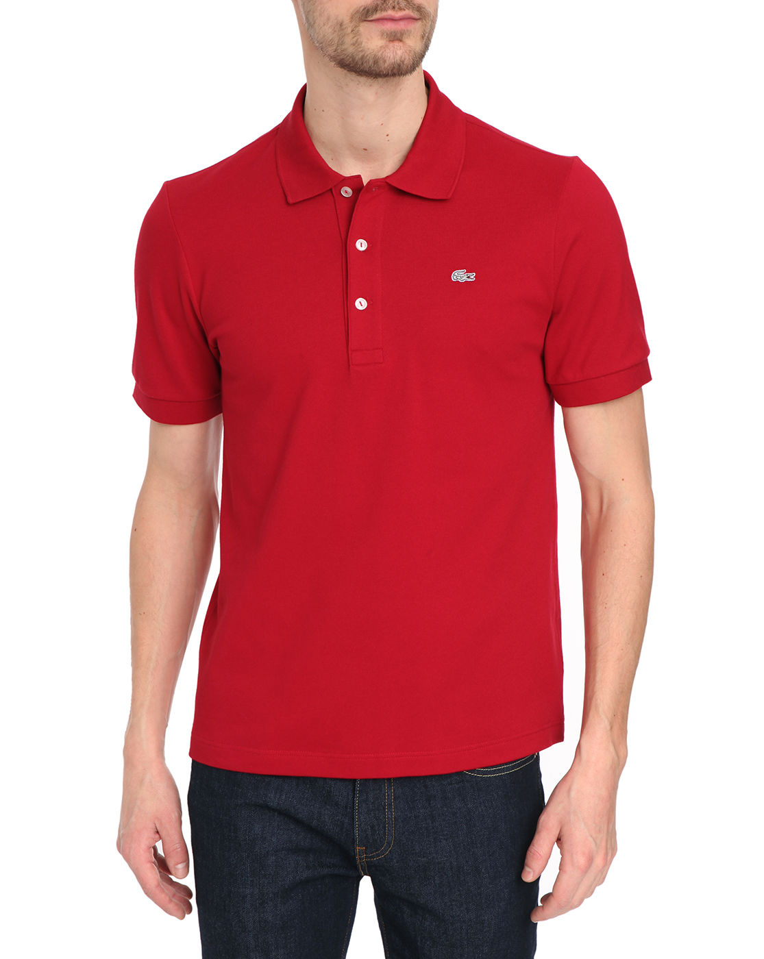 lacoste red slim fit polo shirt ss in red for men lyst. Black Bedroom Furniture Sets. Home Design Ideas