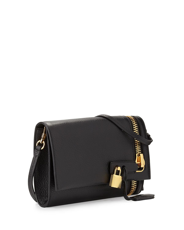 cccc0913f5 Lyst - Tom Ford Alix Small Zip   Padlock Crossbody Bag in Black