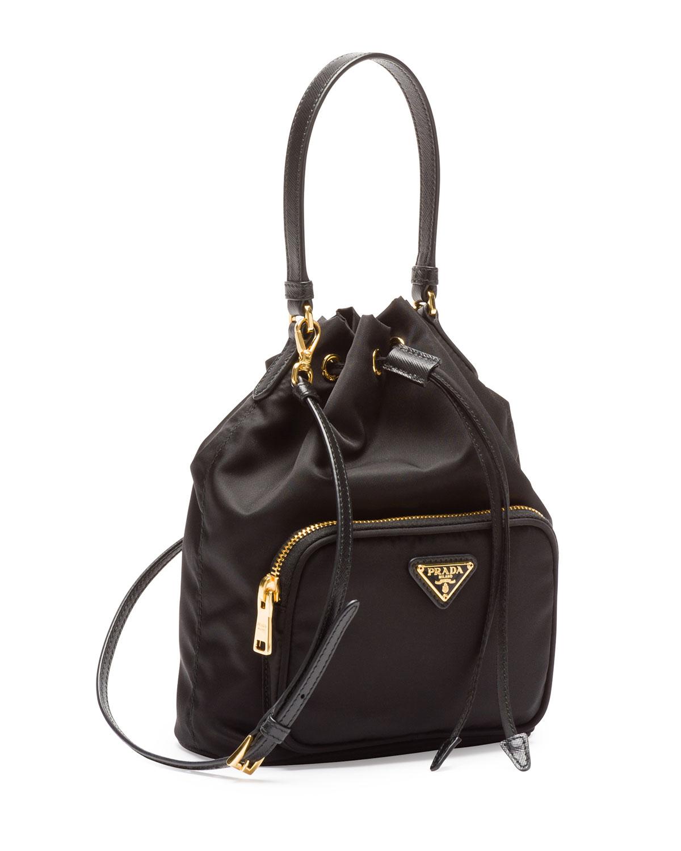 830115383f10 Prada Black Mini Backpack