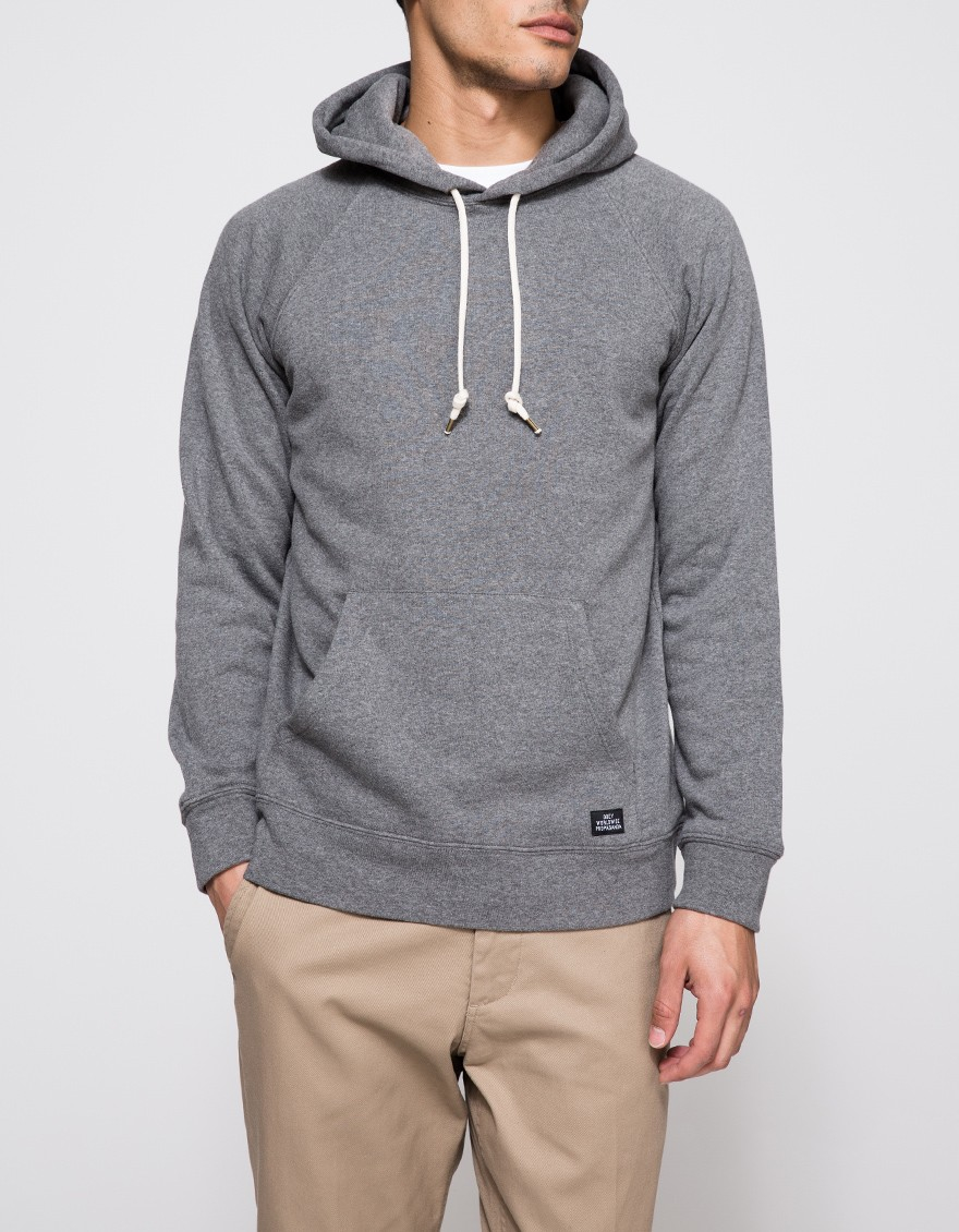 lyst obey lofty creature comfort pullover in gray for men. Black Bedroom Furniture Sets. Home Design Ideas