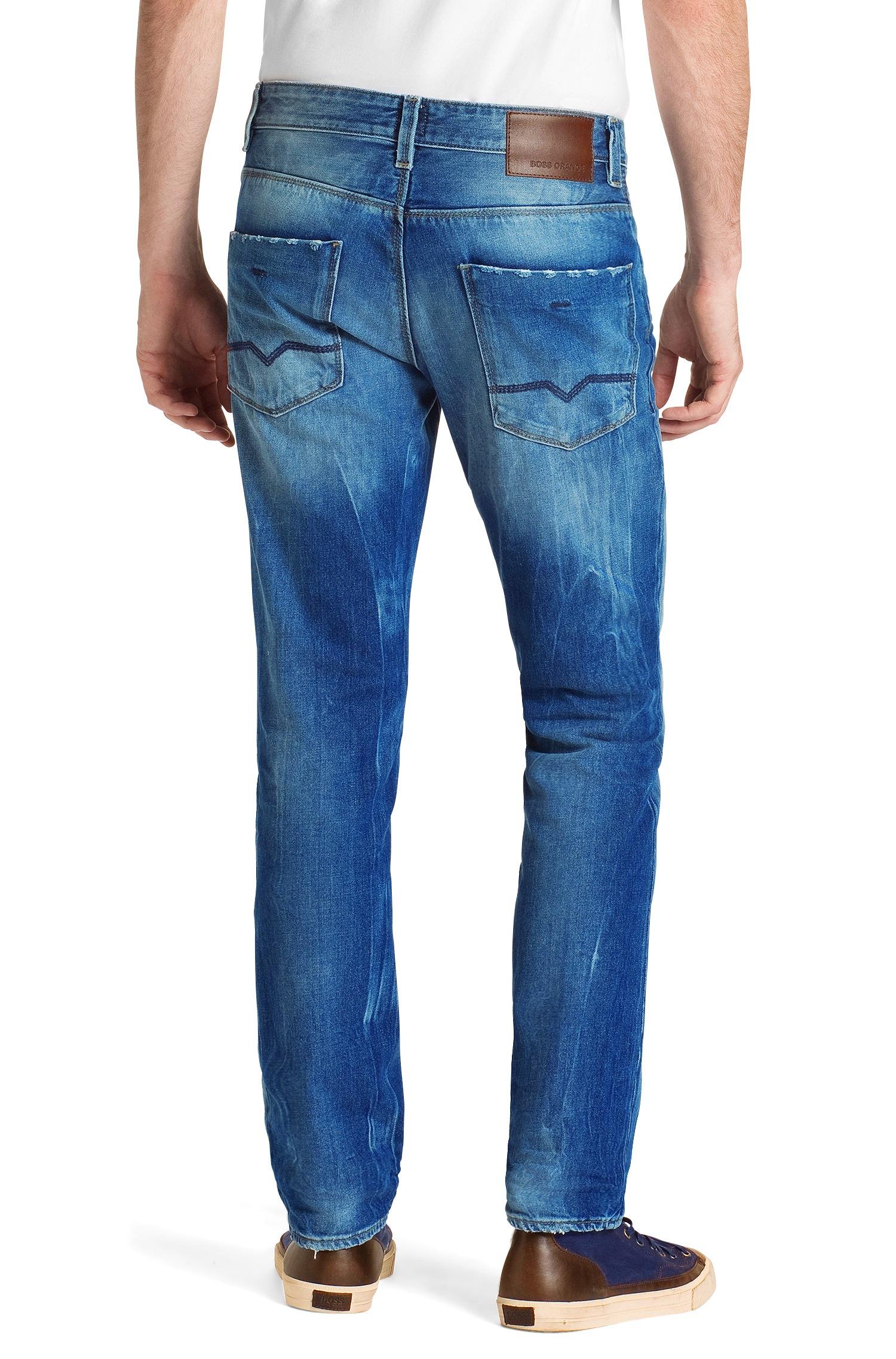 boss orange slim fit jeans orange63 gamer in blue for men. Black Bedroom Furniture Sets. Home Design Ideas