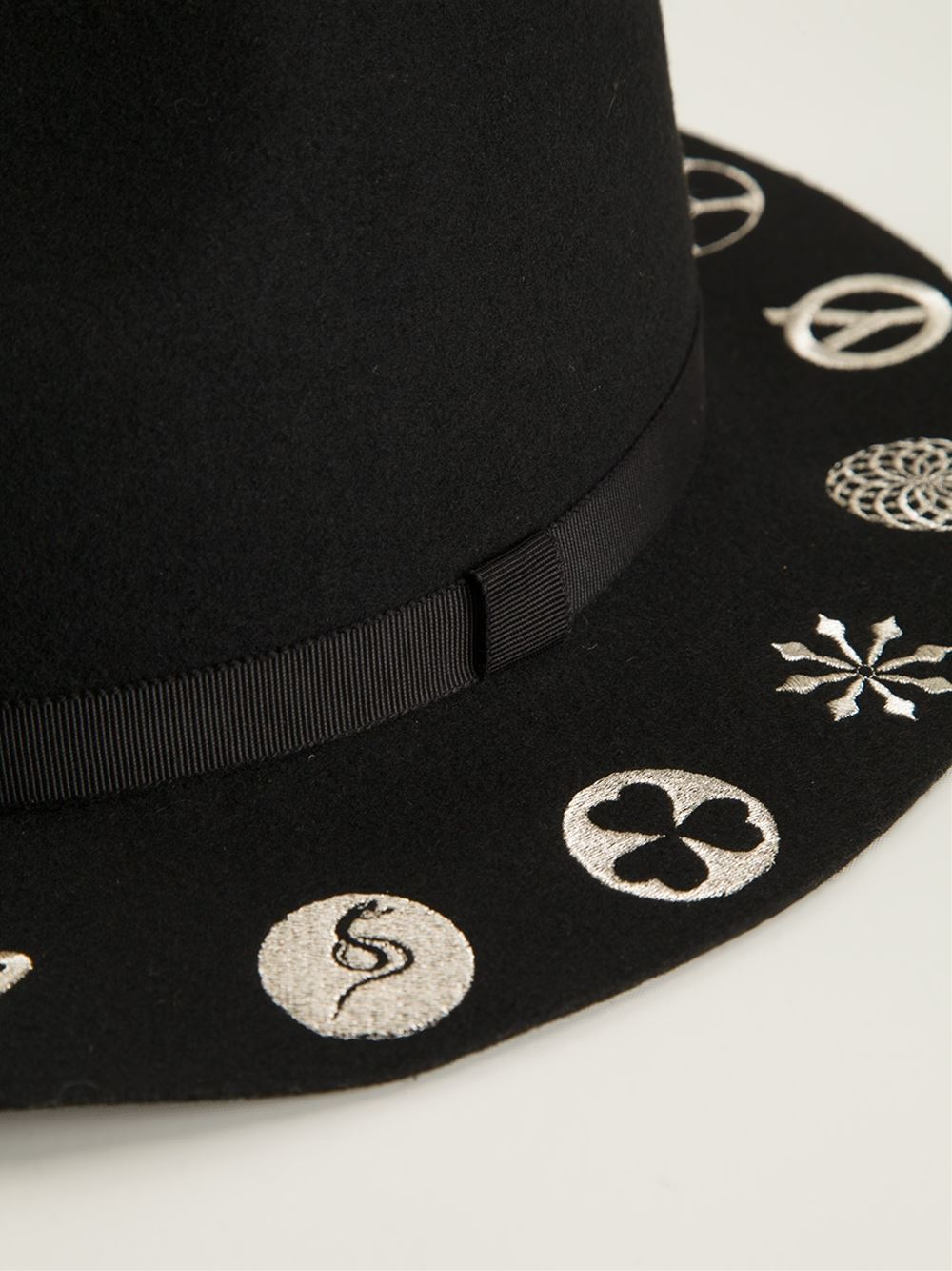 Yohji Yamamoto Embroidered Hat In Black For Men Lyst