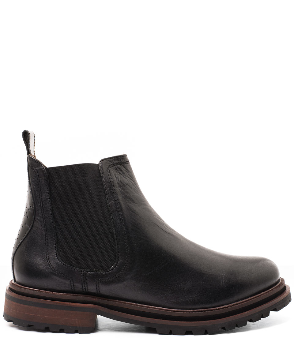 h by hudson black wistow leather boots in black lyst