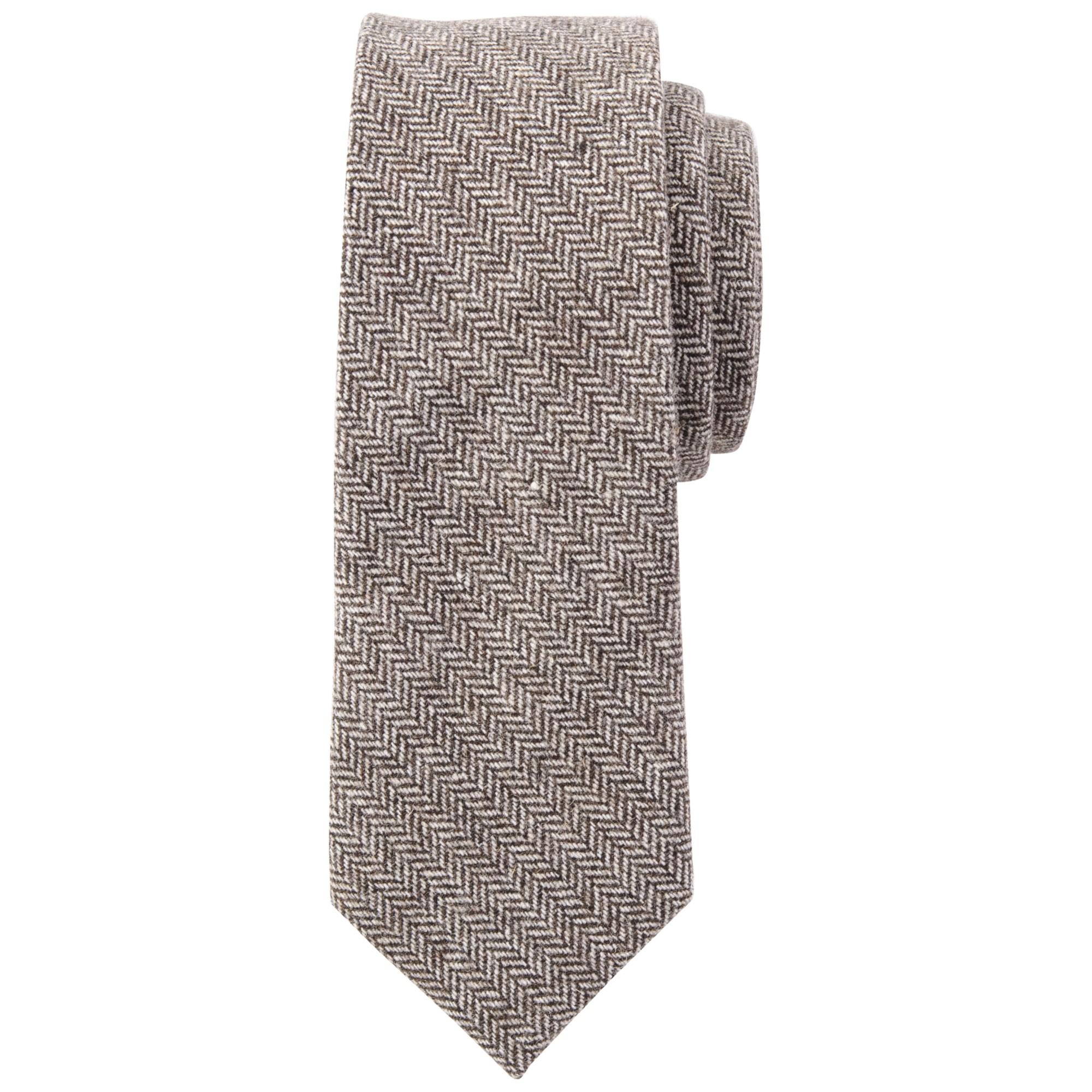 30178db58e0c John Lewis Herringbone Tie in Brown for Men - Lyst
