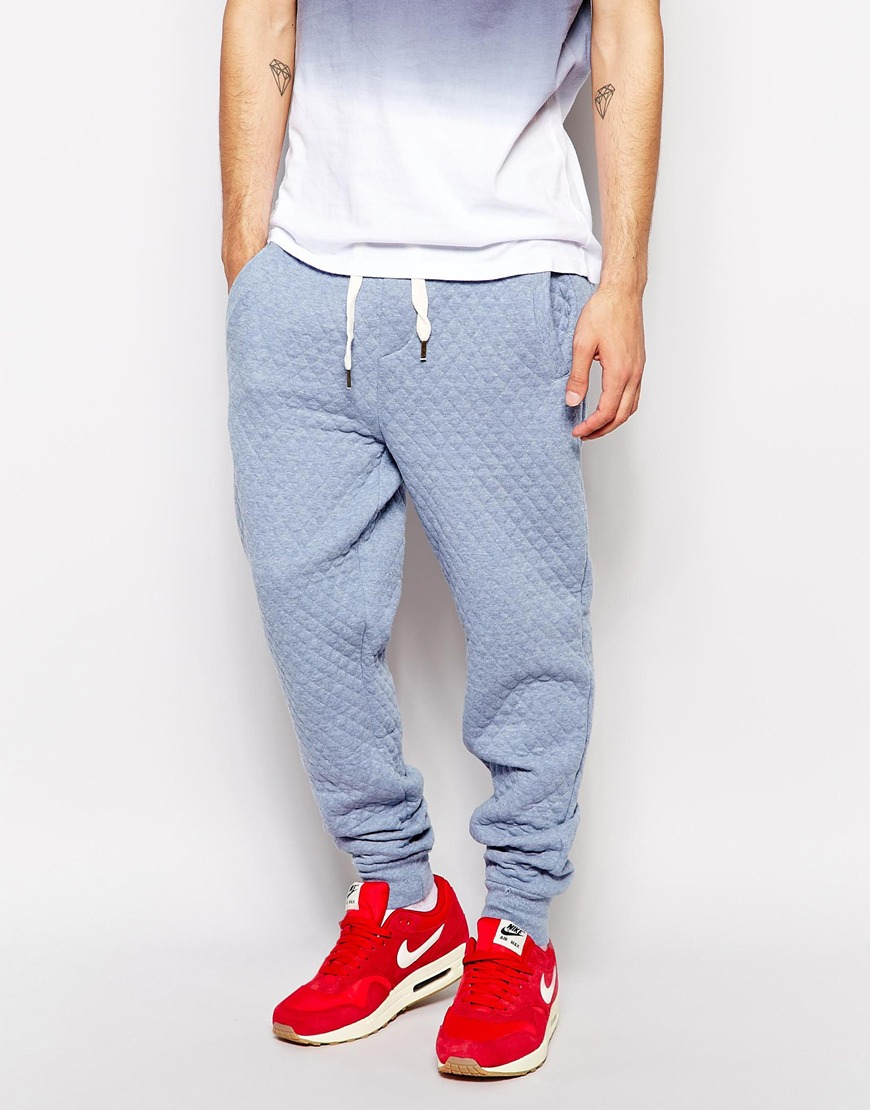 Native youth Quilted Sweat Pants in Blue for Men   Lyst : mens quilted pants - Adamdwight.com